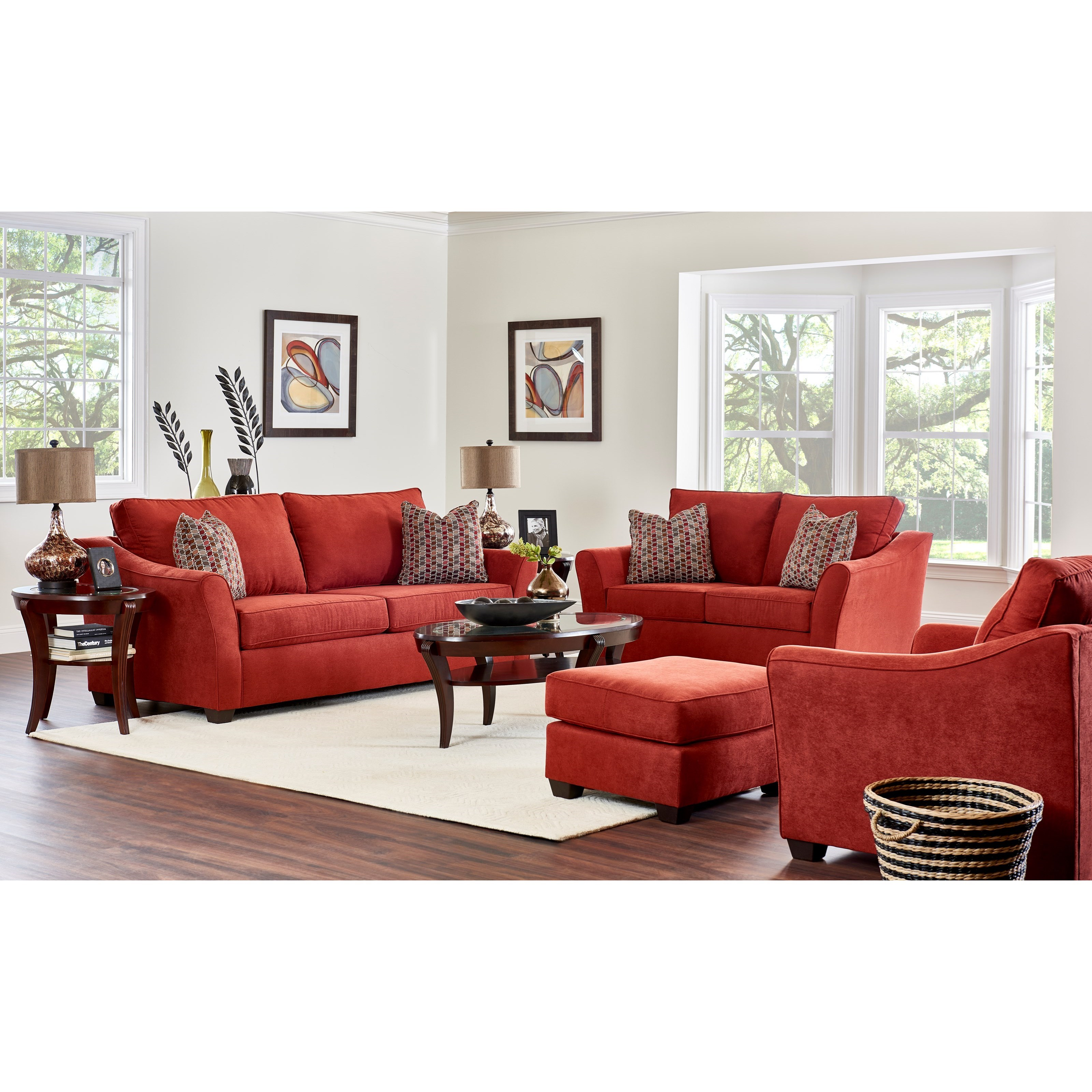 Klaussner Linville Living Room Group Value City Furniture Stationary Living Room Groups