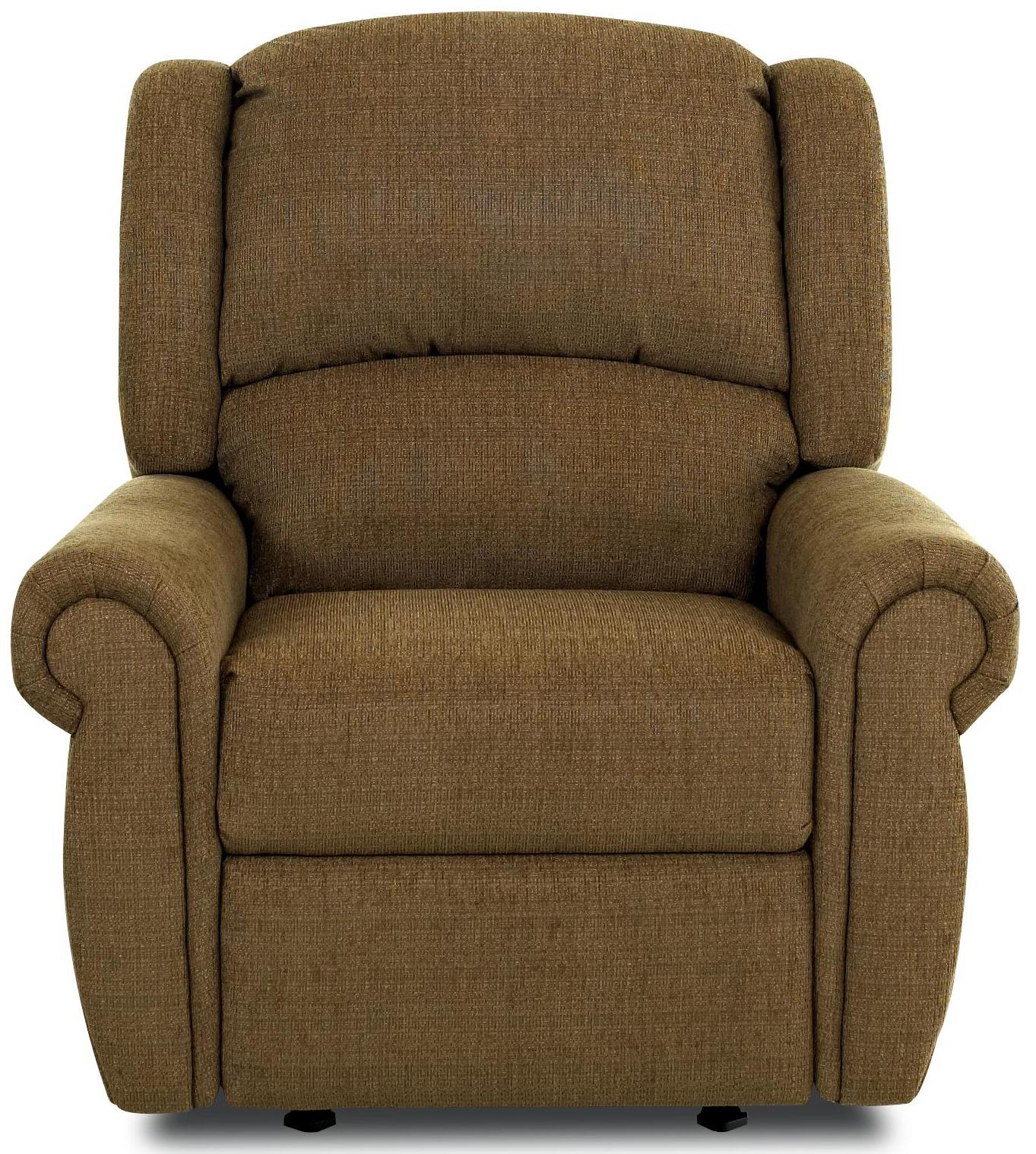 McAlister Traditional Glider Recliner With Winged Pub Back And Rolled Arms By
