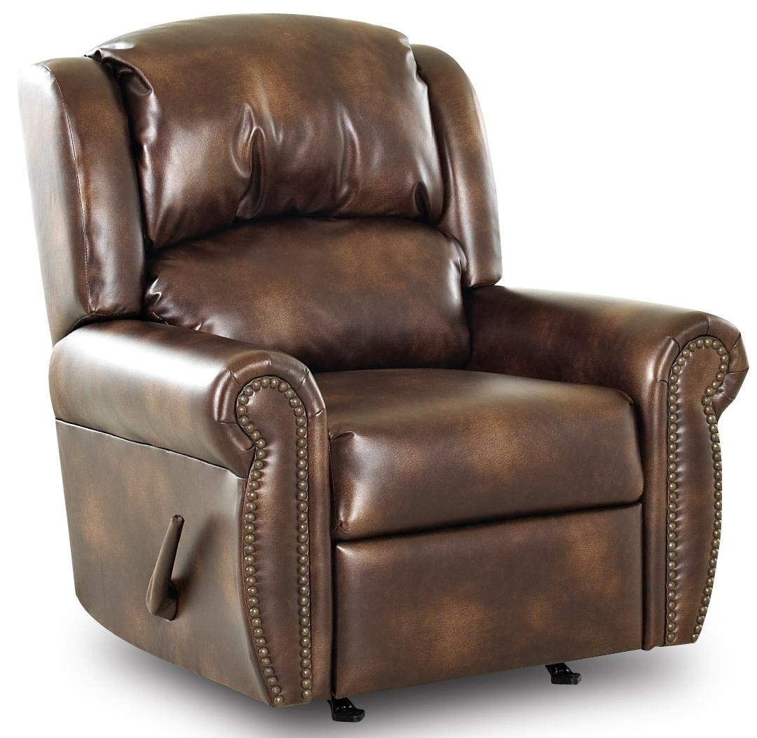 Klaussner McAlister Traditional Swivel Glider Recliner With Winged Pub Back A