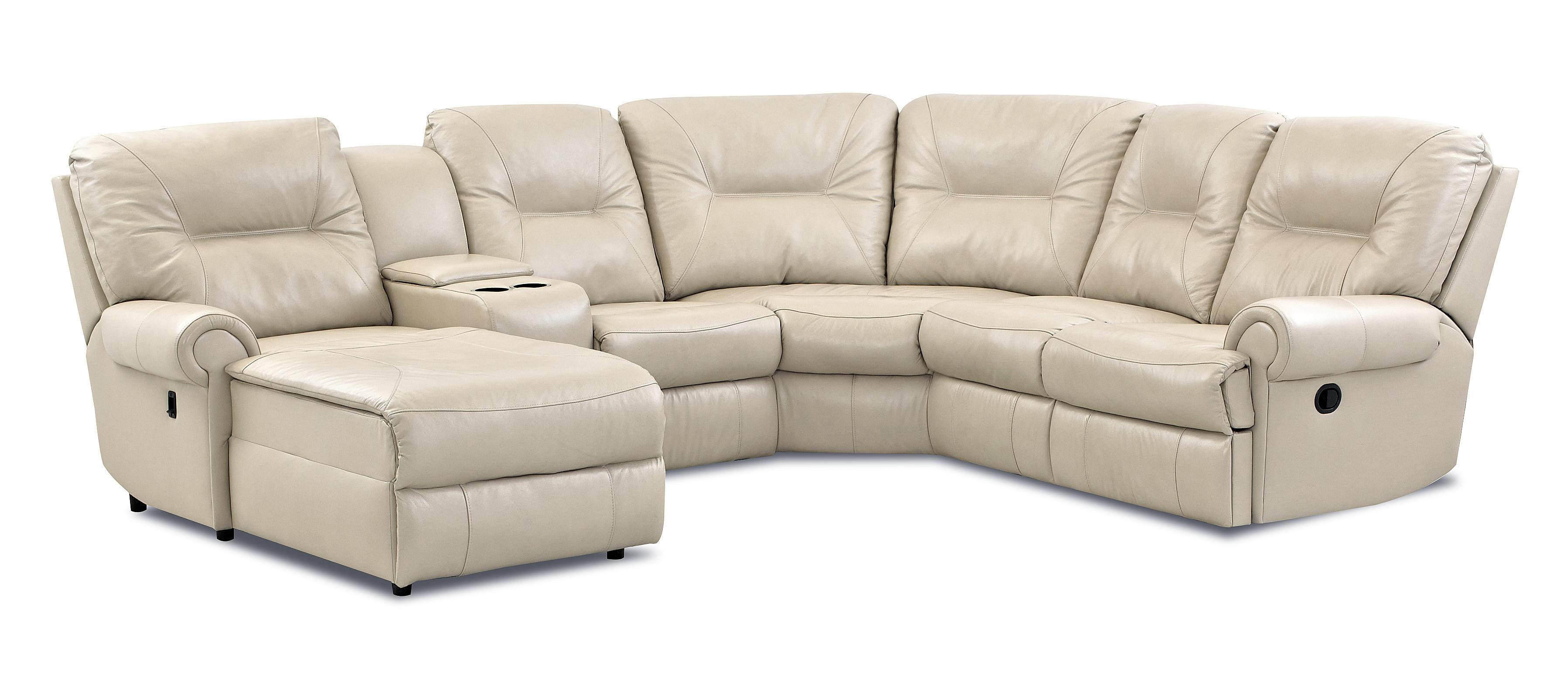Klaussner roadster traditional reclining sectional sofa for Traditional sectional