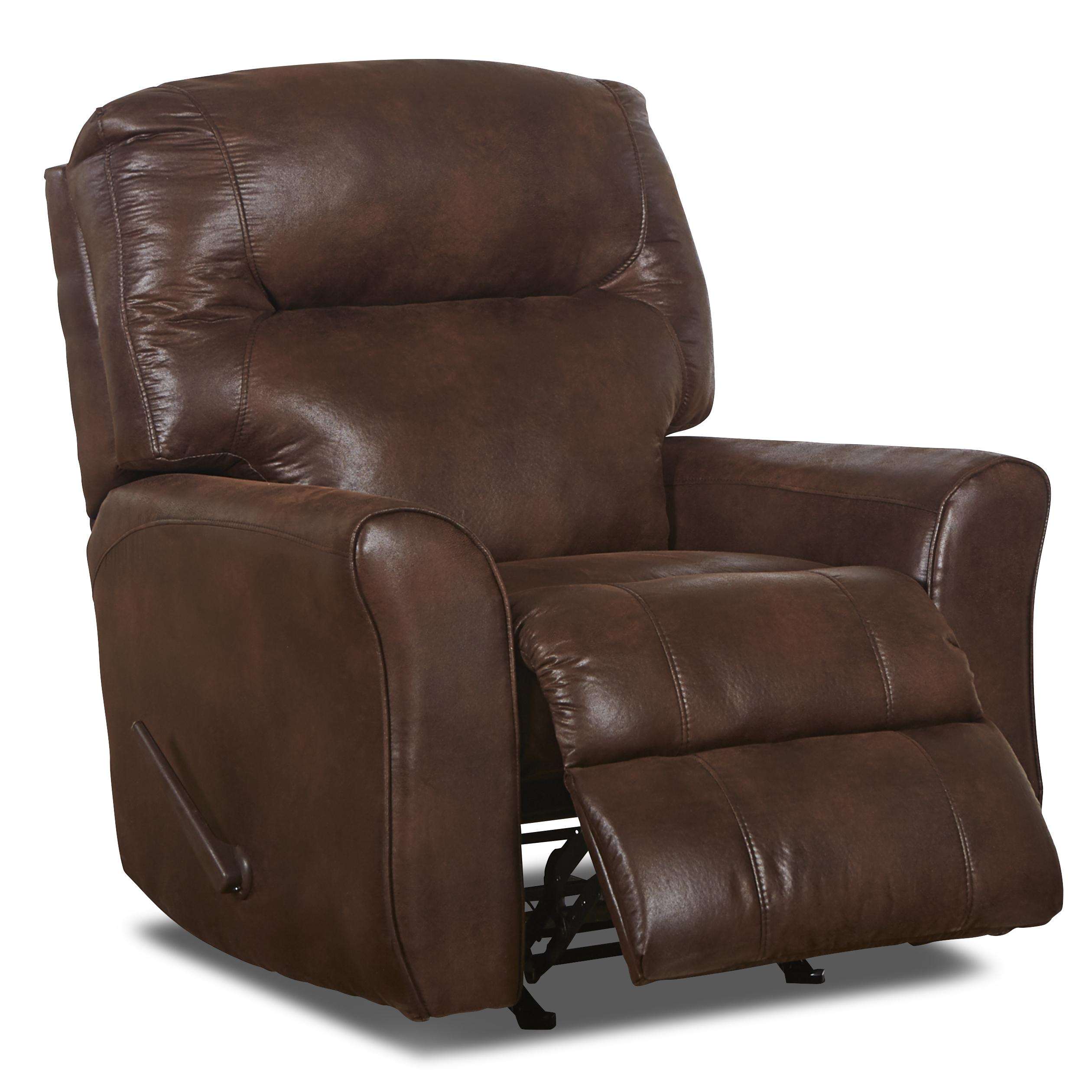 Superb img of Klaussner Schwartz Casual Leather Reclining Rocking Chair with  with #412F27 color and 2520x2520 pixels