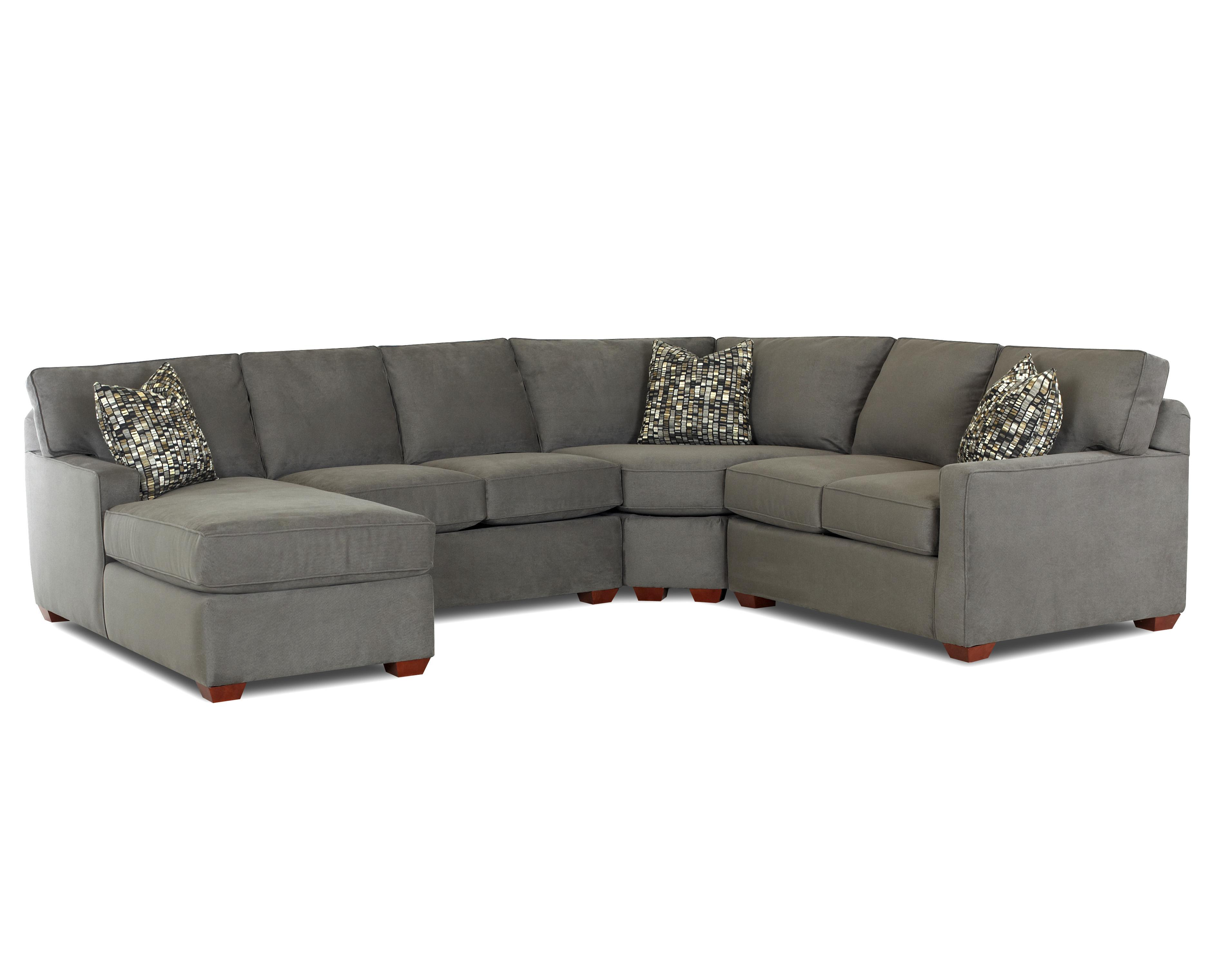 Klaussner selection contemporary l shaped sectional sofa for Sectional sofas left facing chaise