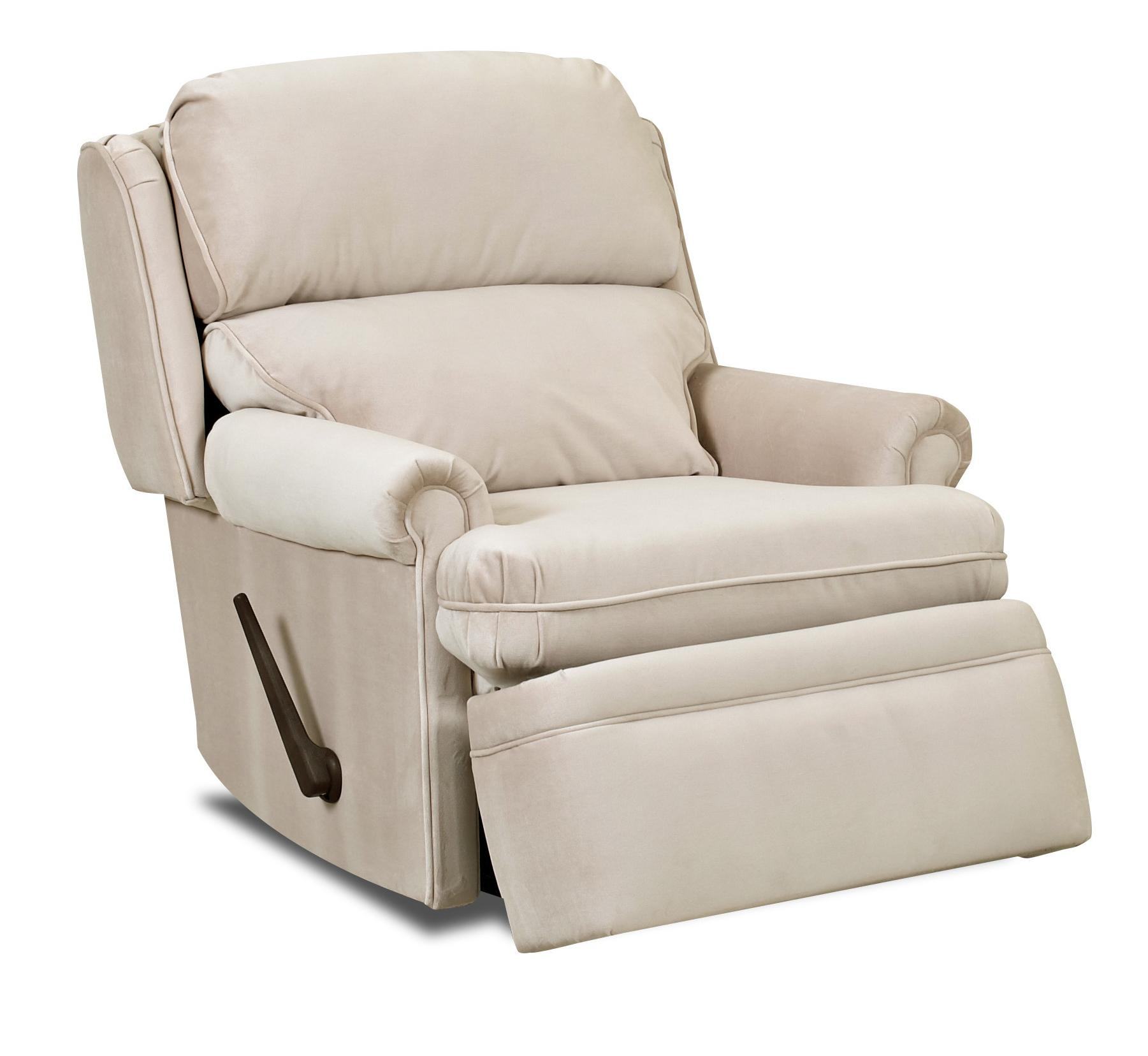 Sylvan Traditional Swivel Gliding Reclining Chair With Rolled Arms And Wing B