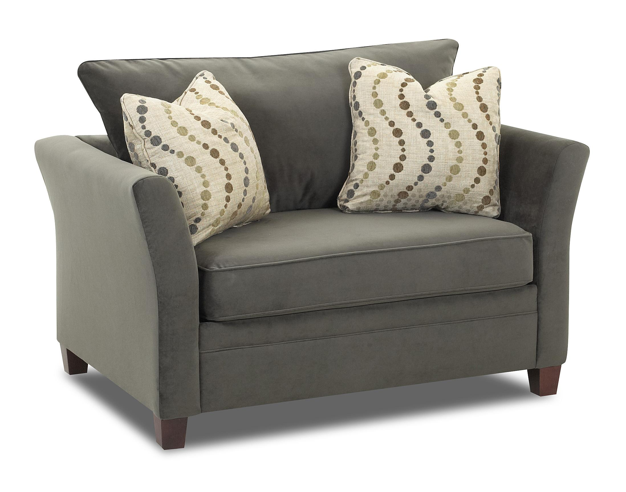 Taylor Contemporary Chair And A Half By Klaussner Wolf Furniture