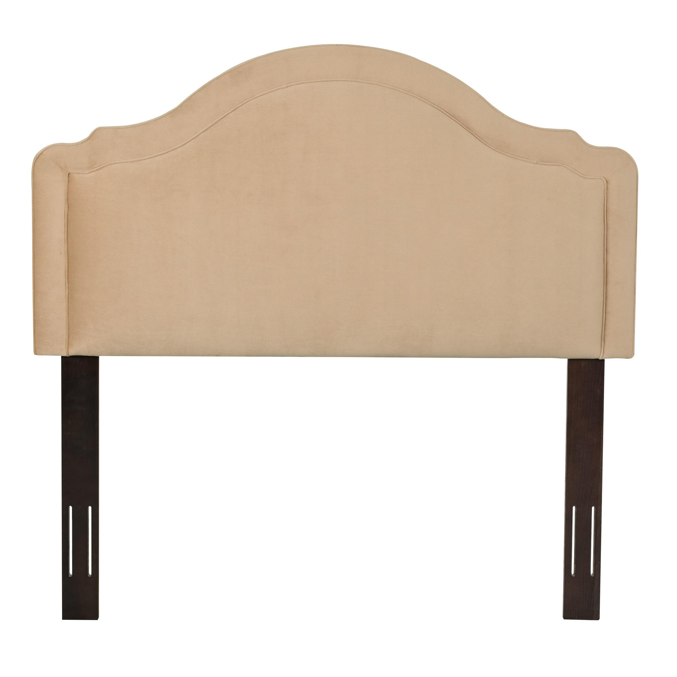 upholstered beds and headboards rabin twin headboard with arched top
