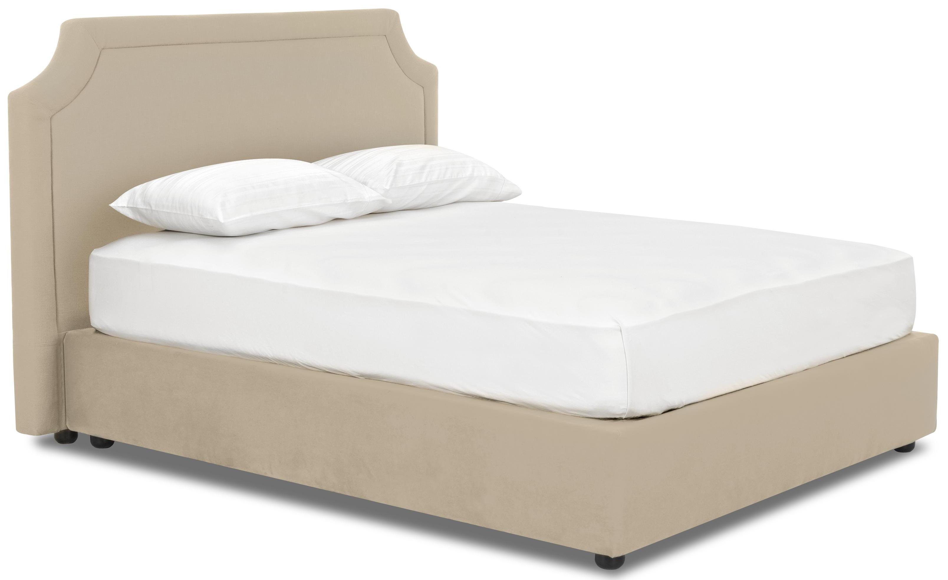 Klaussner upholstered beds and headboards queen for Upholstered bed and mattress