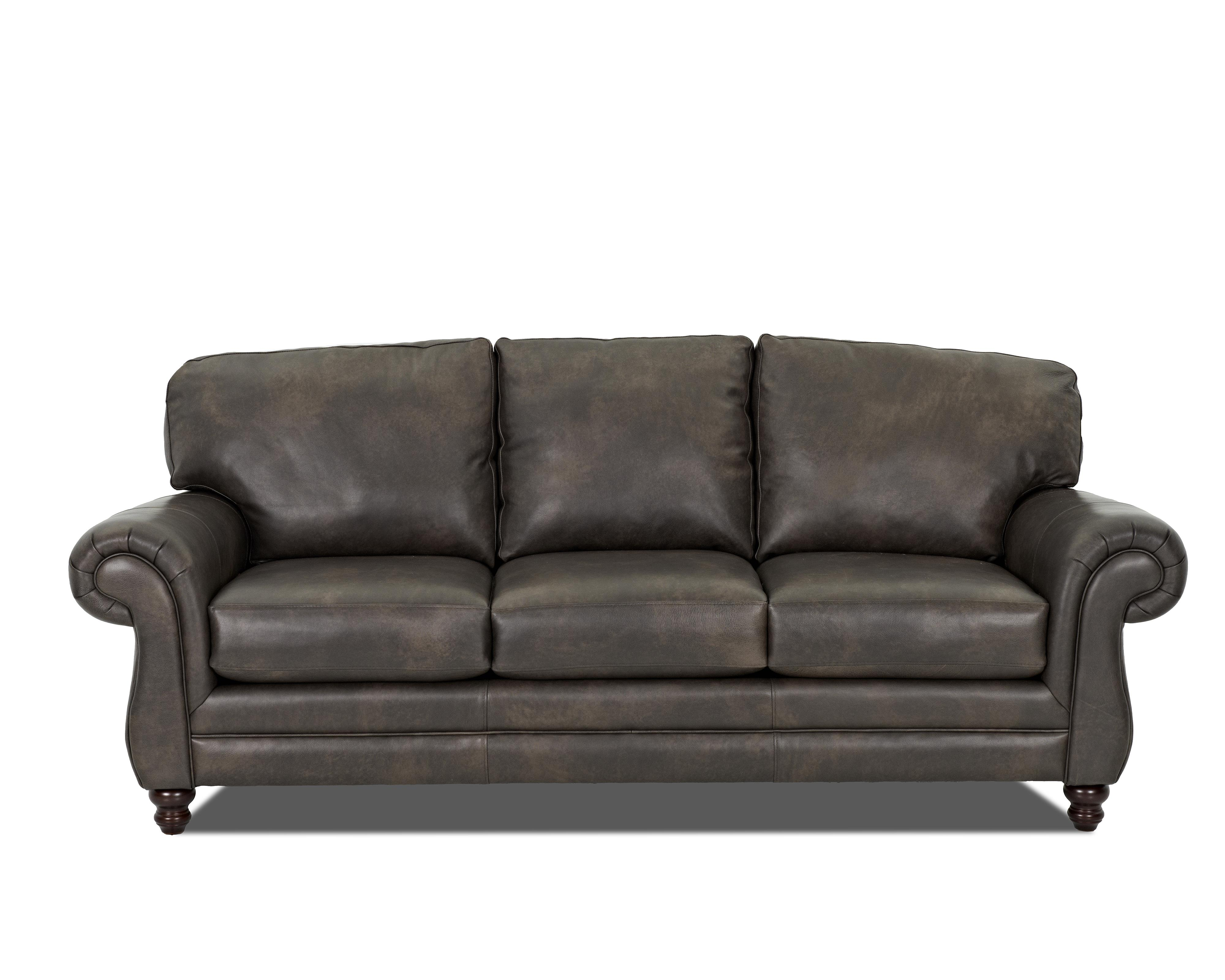 Klaussner leather sofa klaussner montezuma casual style for Klaussner sofa