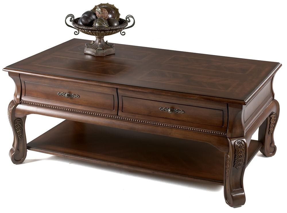Winchester cocktail table with 2 drawers morris home cocktail or coffee table Morris home furniture outlet