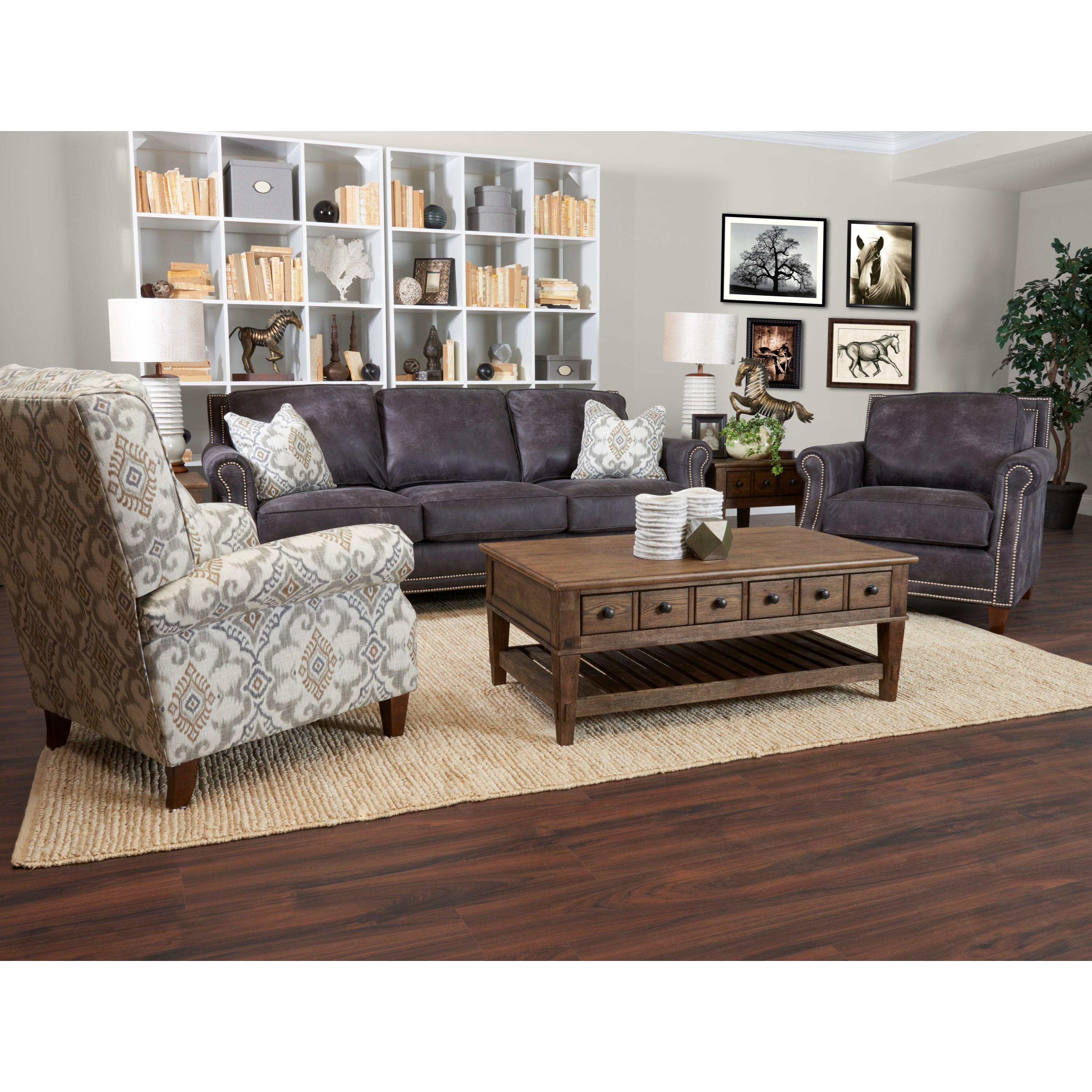 Klaussner York Living Room Group Pilgrim Furniture City Stationary Living Room Groups