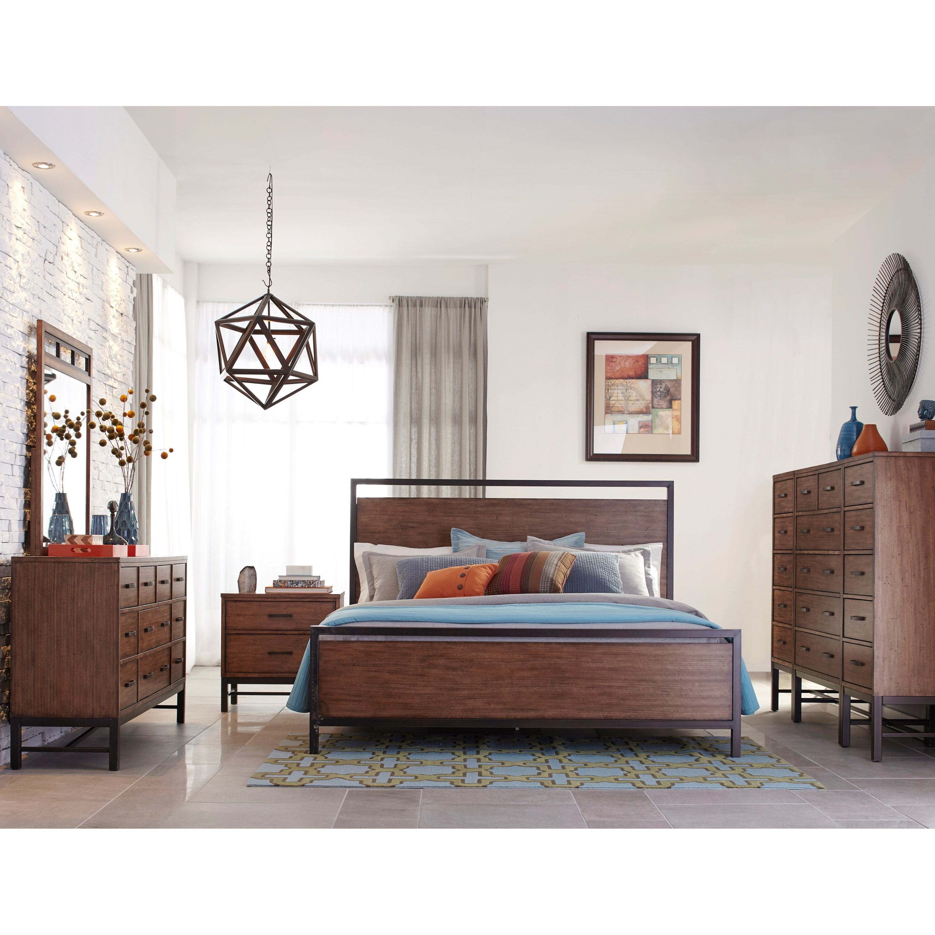 Tribecca Queen Panel Bed With Square Legs Morris Home Panel Beds