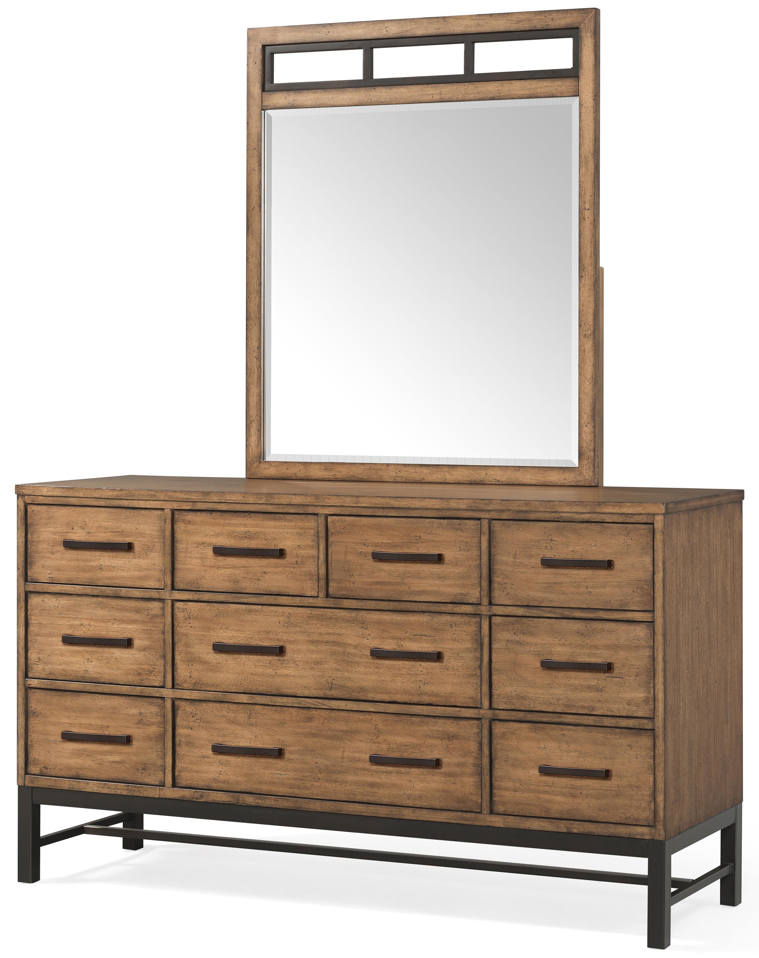 Klaussner International Affinity 10 Drawer Dresser And Mirror Set Jacksonville Furniture Mart