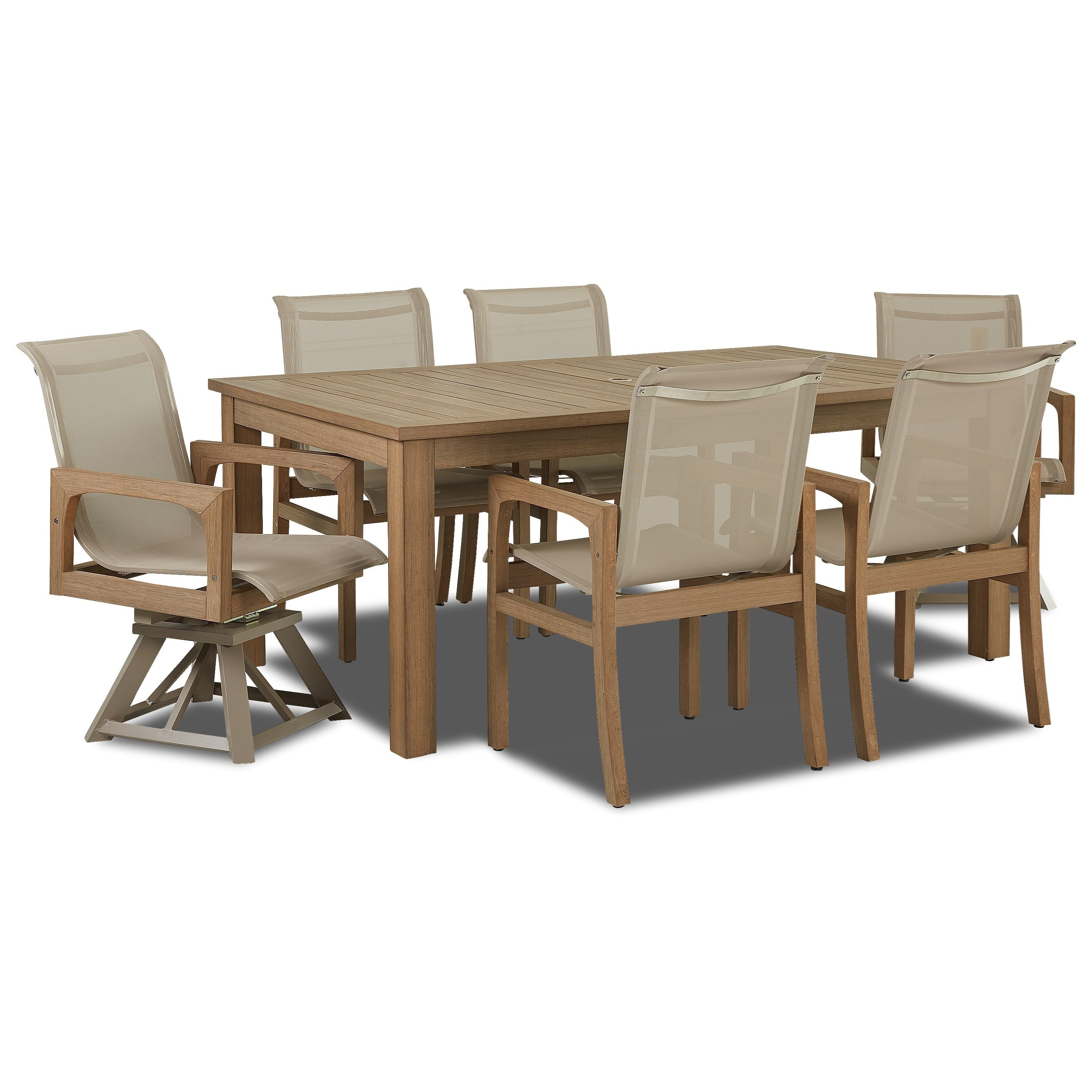 Klaussner Outdoor Delray 7 Piece Outdoor Dining Set Design Interiors Outdoor Dining Sets