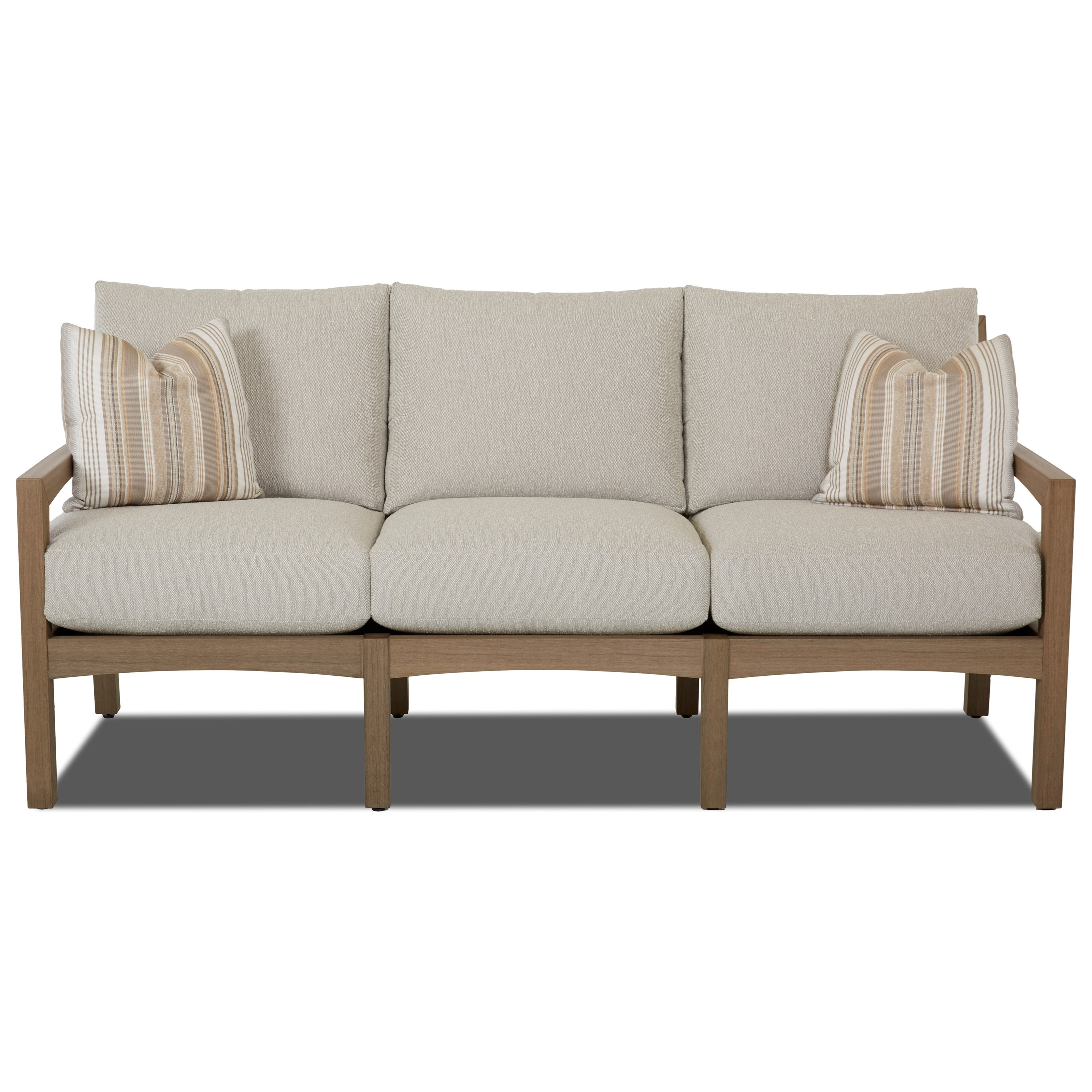 Klaussner Outdoor Delray W8502 Sdr Outdoor Sofa With Drainable Cushions Hudson 39 S Furniture