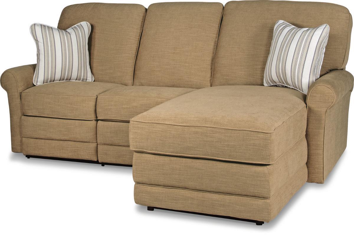 La z boy addison two piece reclining sectional sofa with for 2 piece sectional sofa with recliner