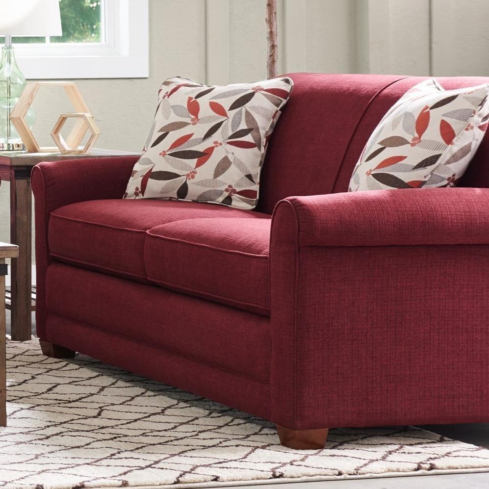 la z boy amanda casual apartment size sofa with premier comfortcore cushions conlin 39 s. Black Bedroom Furniture Sets. Home Design Ideas