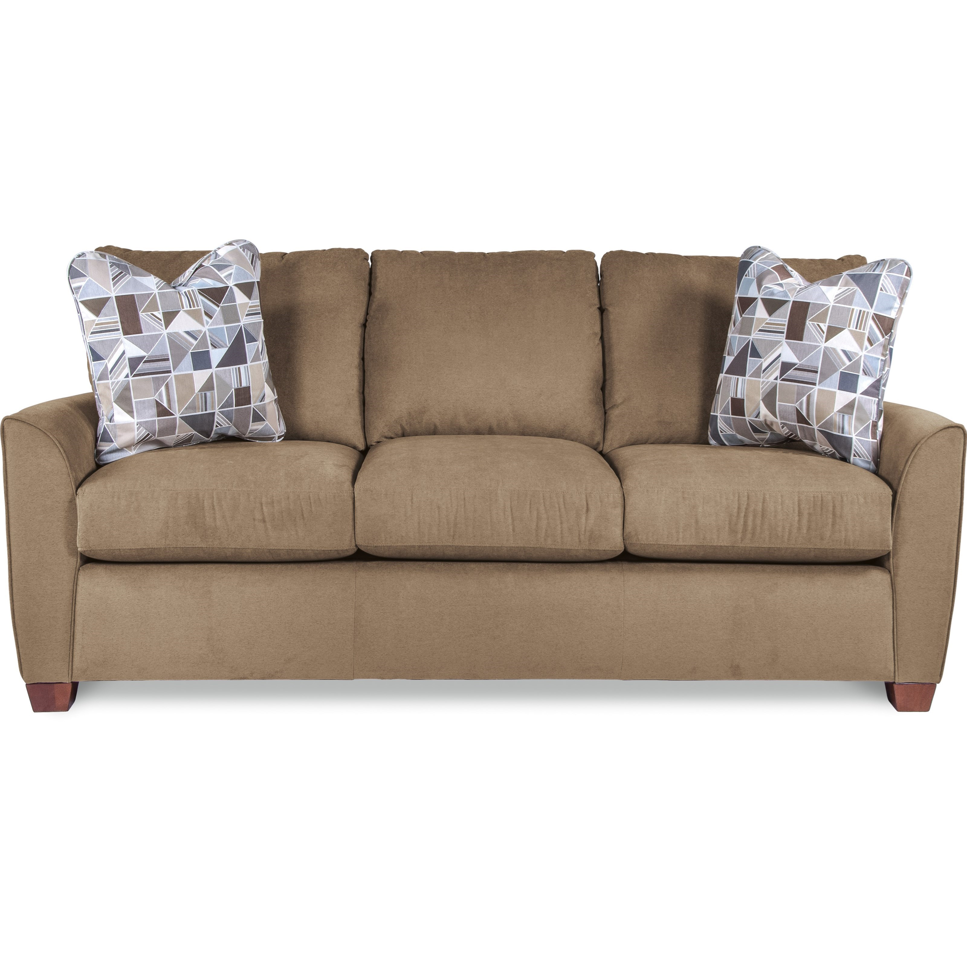 La Z Boy Amy Casual Sofa With Premier Comfortcore Cushions Boulevard Home Furnishings Sofas