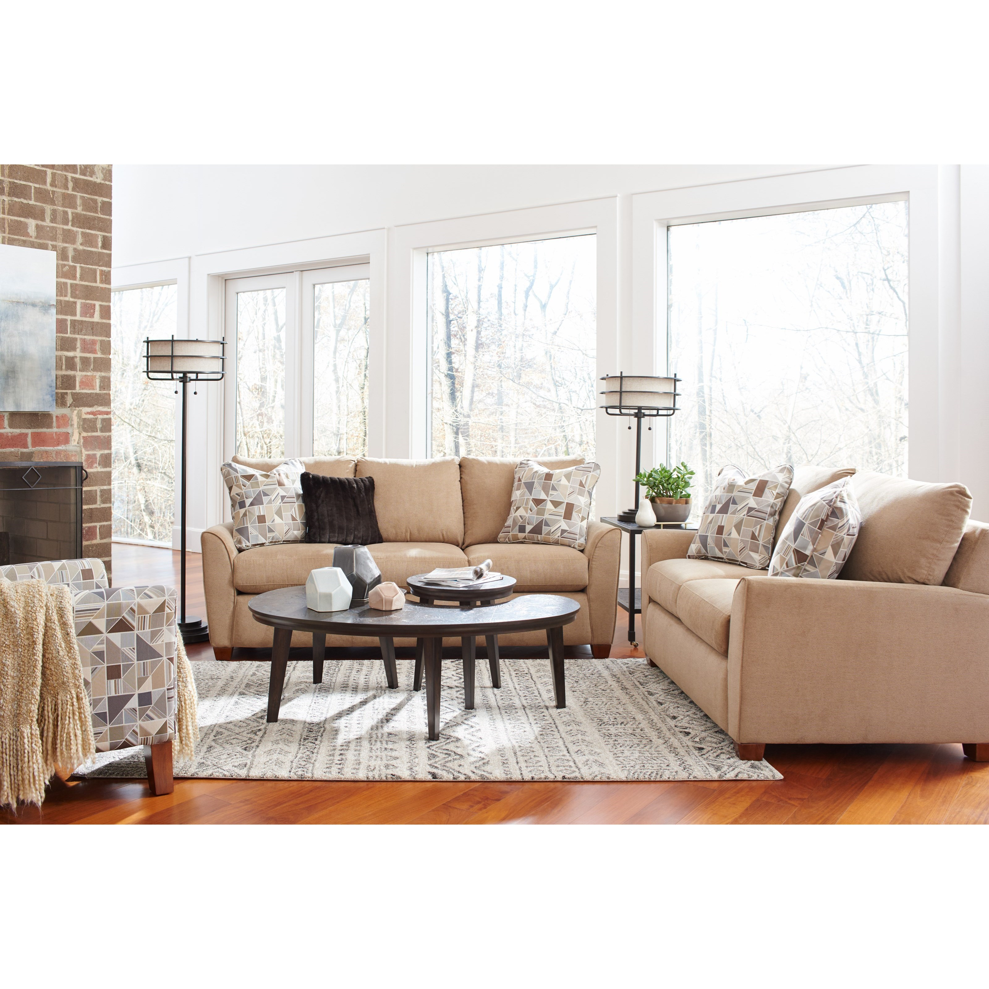 La z boy amy living room group knight furniture for Living room furniture groups