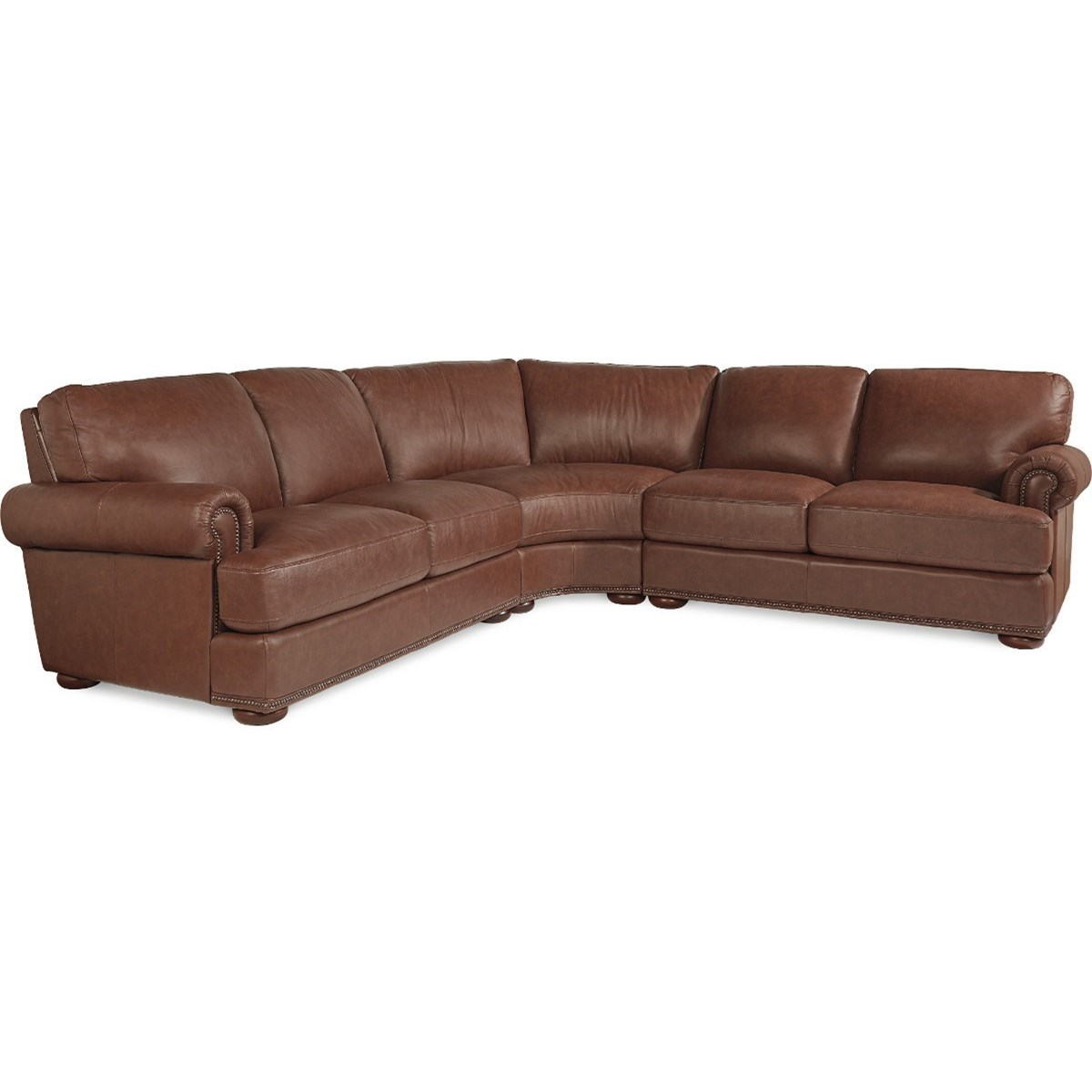 La z boy andrew traditional 3 piece sectional with for Traditional sectional