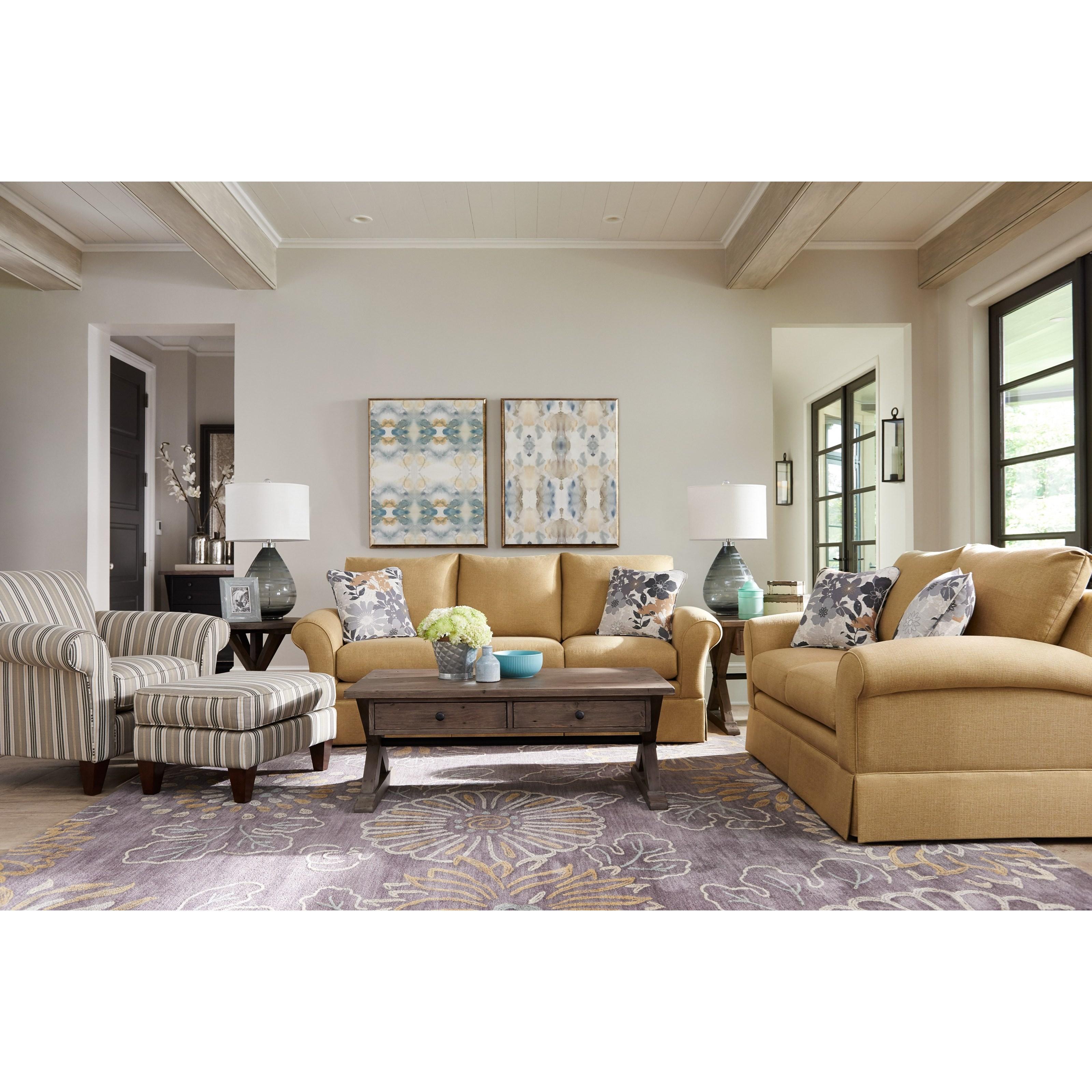 La-Z-Boy Aria Transitional Chair And Ottoman Set   Adcock Furniture   Chair U0026 Ottoman Sets