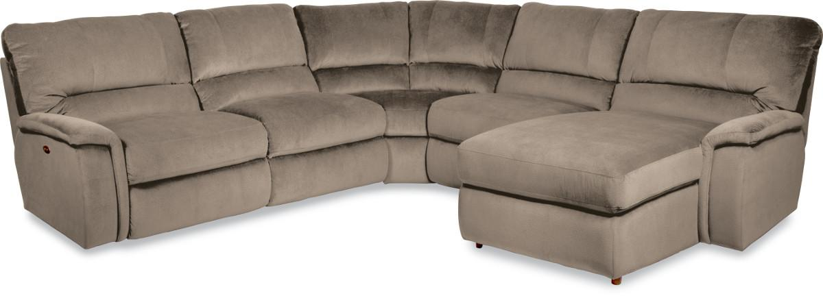 Aspen five piece reclining sectional sofa with las for 5 piece sectional sofa with chaise