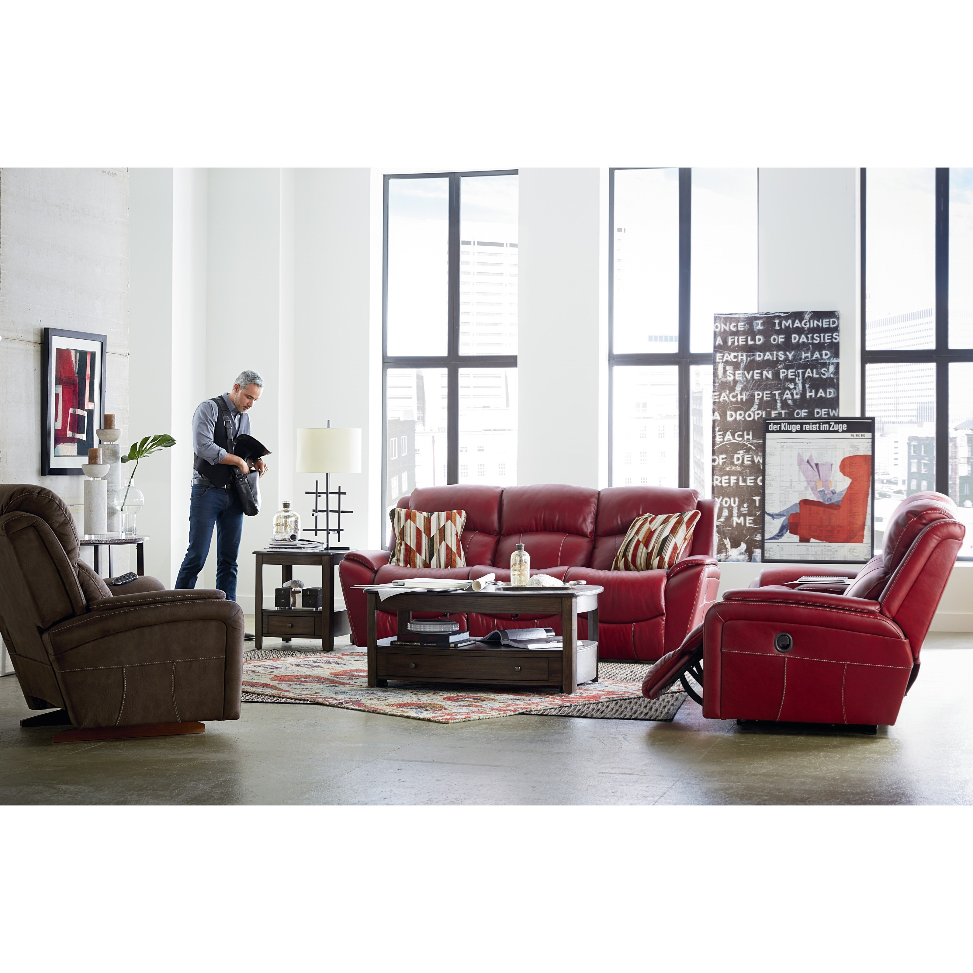 La Z Boy Barrett Reclining Living Room Group Zak 39 S Fine Furniture Reclining Living Room Groups