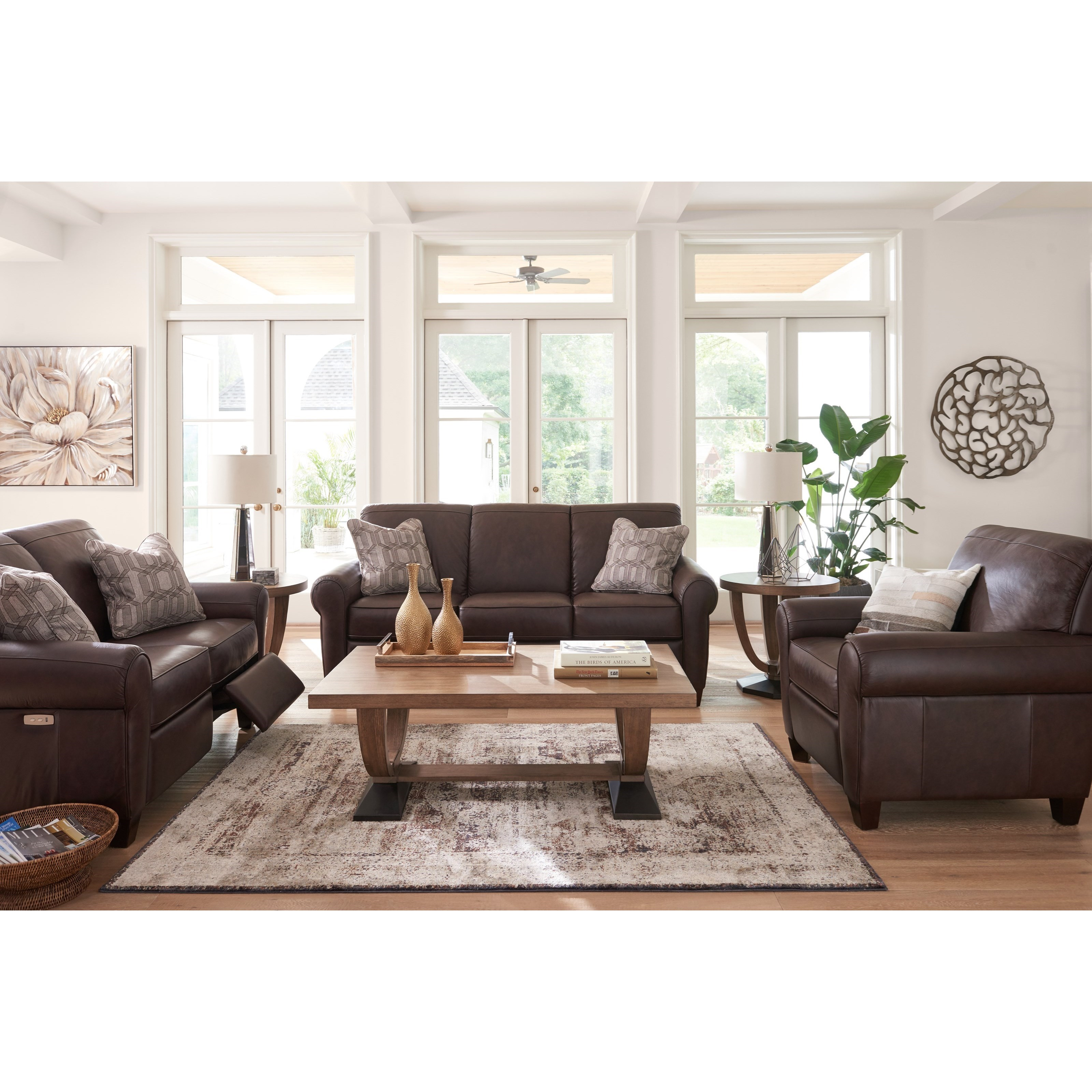 La z boy bennett reclining living room group zak 39 s fine for Living room furniture groups