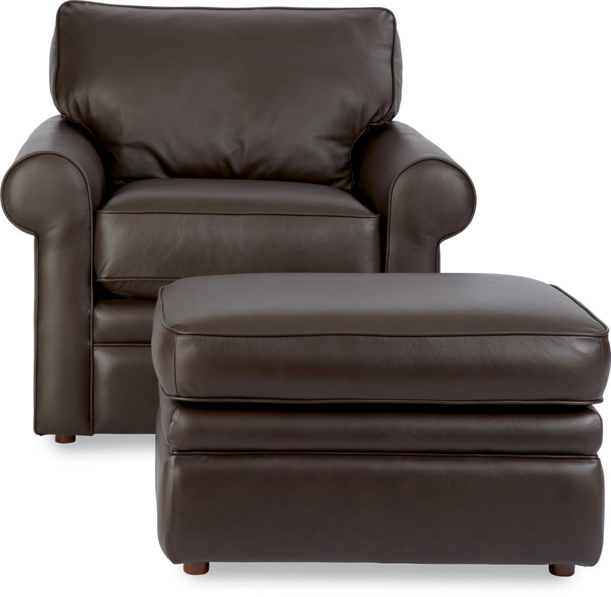 La-Z-Boy Collins Chair With Rolled Arms U0026 Ottoman   Zaku0026#39;s Fine Furniture   Chair U0026 Ottoman Sets