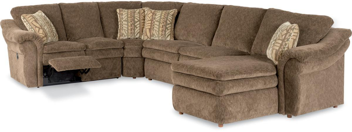 Devon 4 piece reclining sectional sofa with las by la z for Sectional sofas wolf furniture