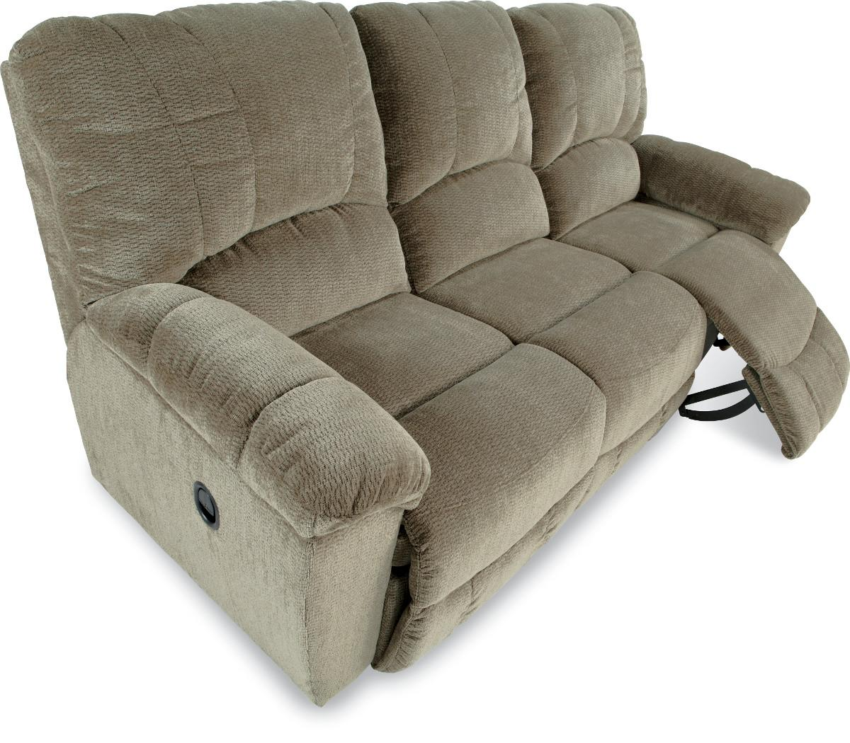 Hayes casual la z time full reclining sofa with channel for Casual couch