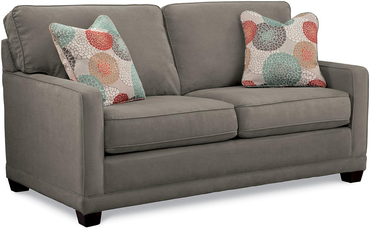 La z boy kennedy transitional apartment size sofa knight for Apartment size furniture