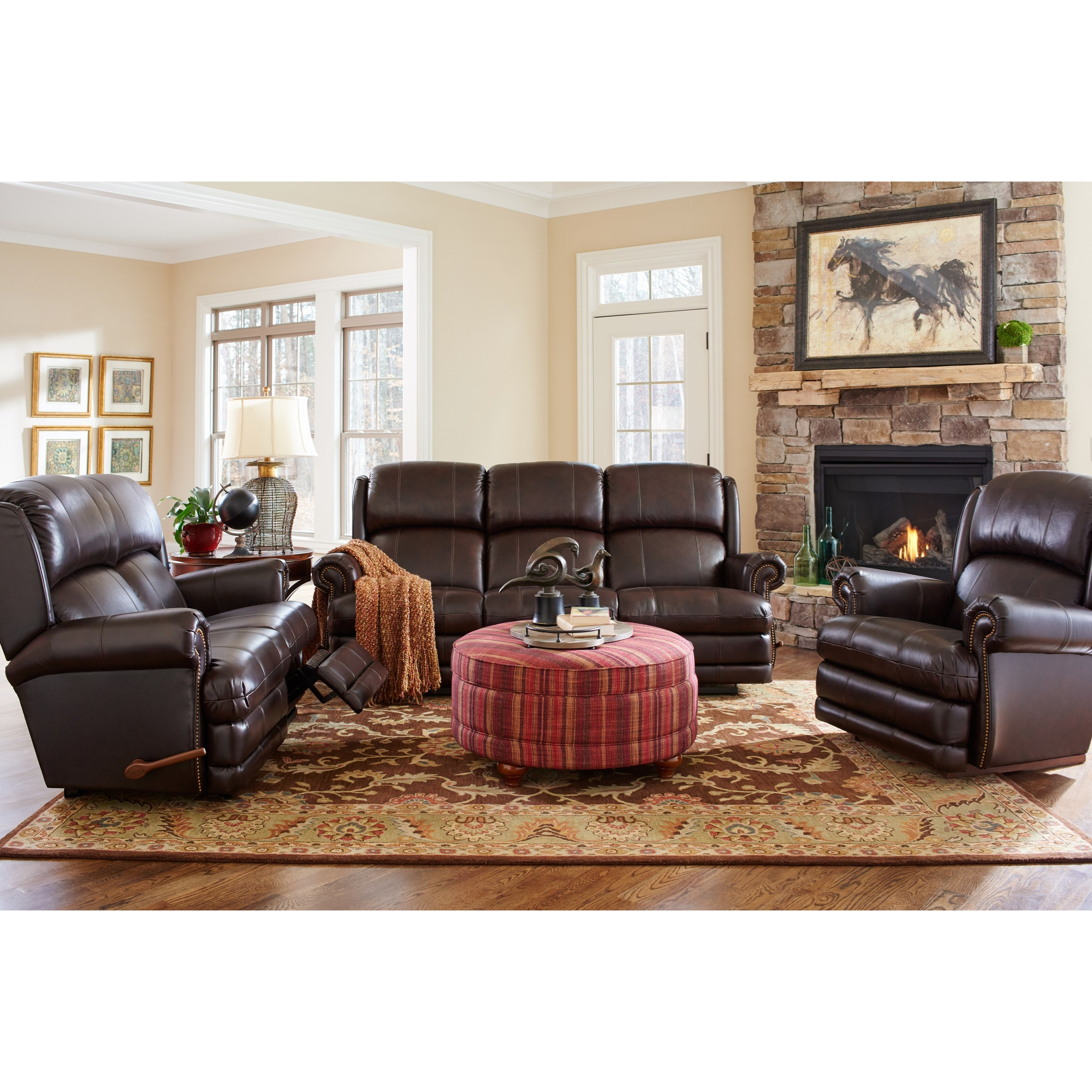 La Z Boy Kirkwood Traditional Space Saver Reclining Loveseat Conlin 39 S Furniture Reclining