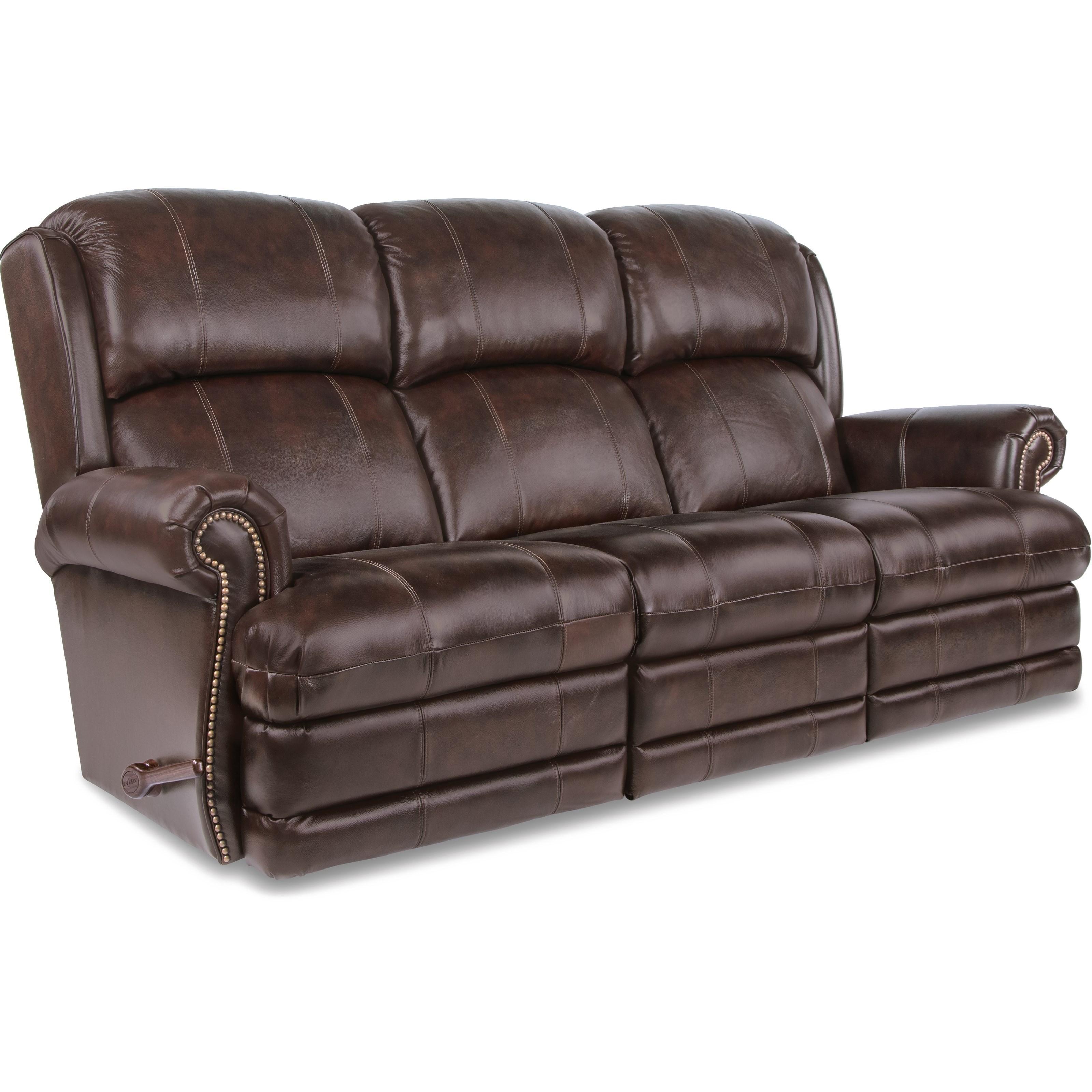 La z boy kirkwood traditional space saver reclining sofa for Traditional style reclining sofa