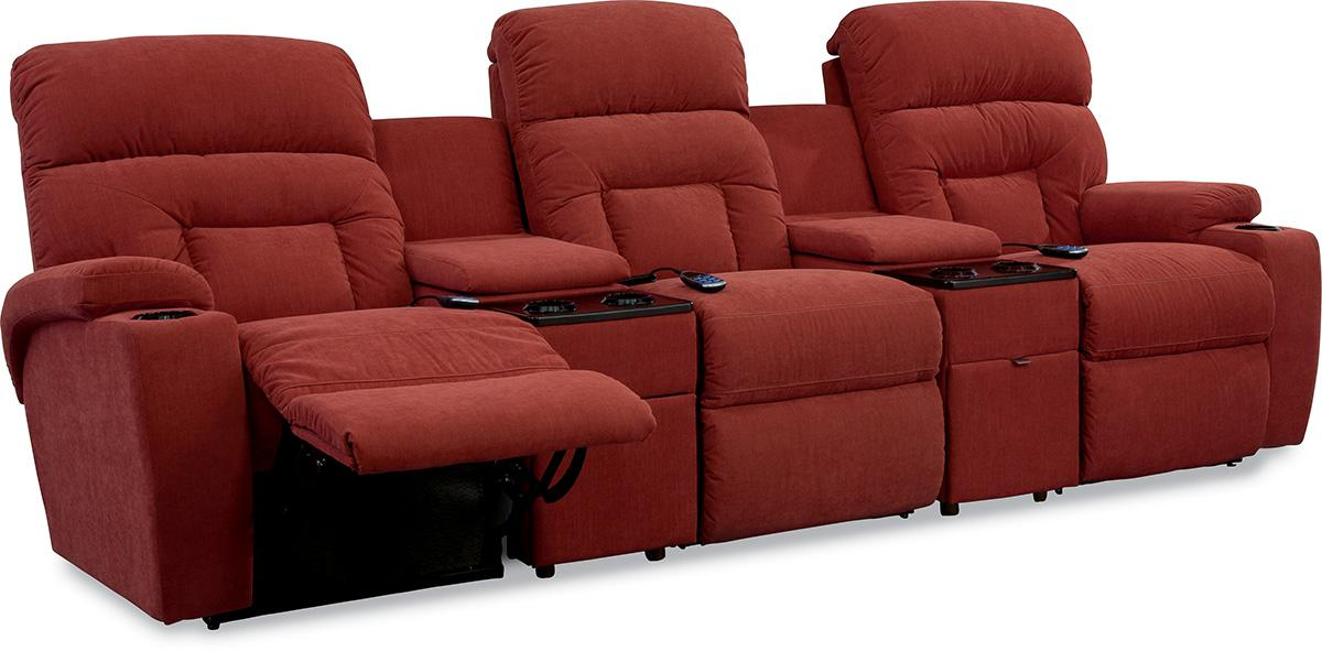 theater seating la z boy spectator 5 pc reclining home theater group