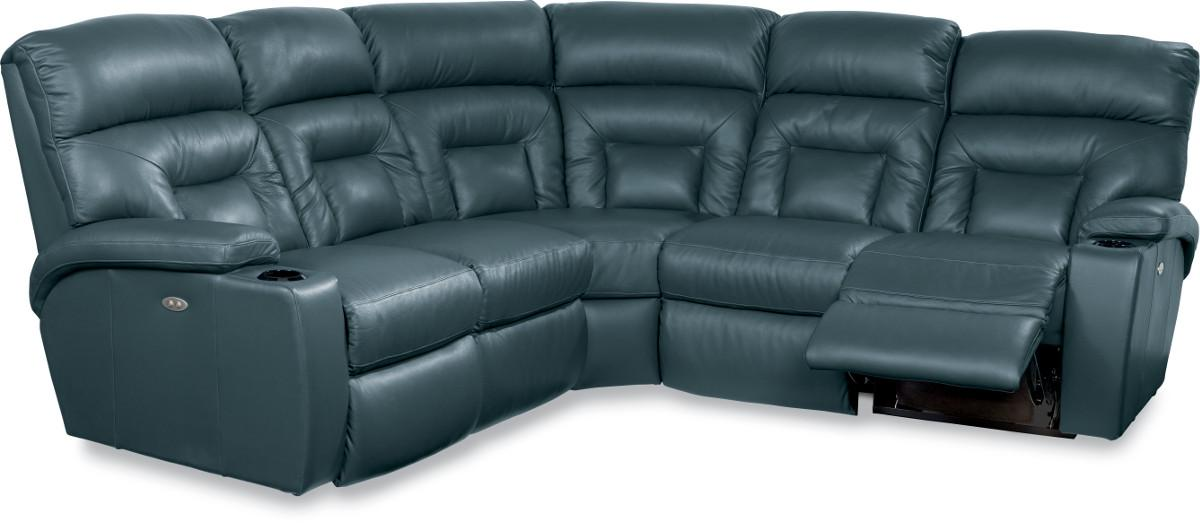 Spectator 5 piece reclining sectional sofa with power by for 5 piece reclining sectional sofa