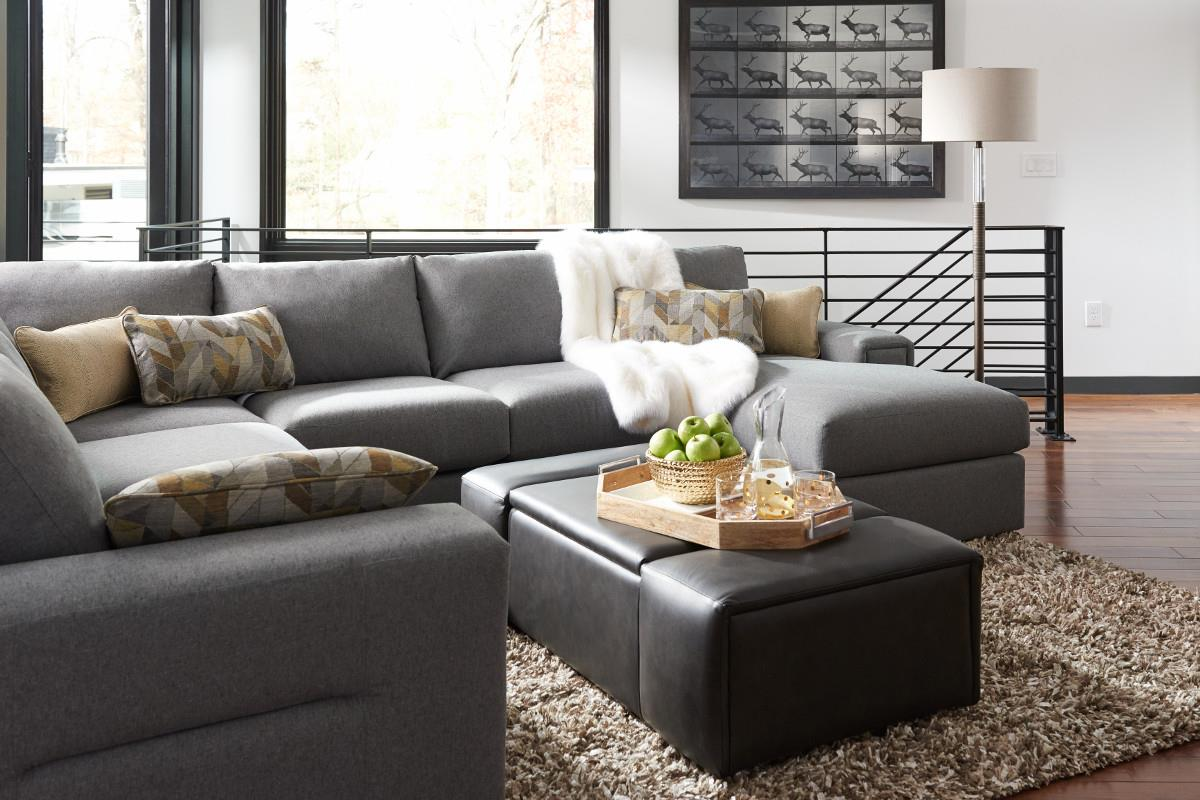 La z boy structure five piece modern sectional sofa with for 5 piece sectional sofa with chaise