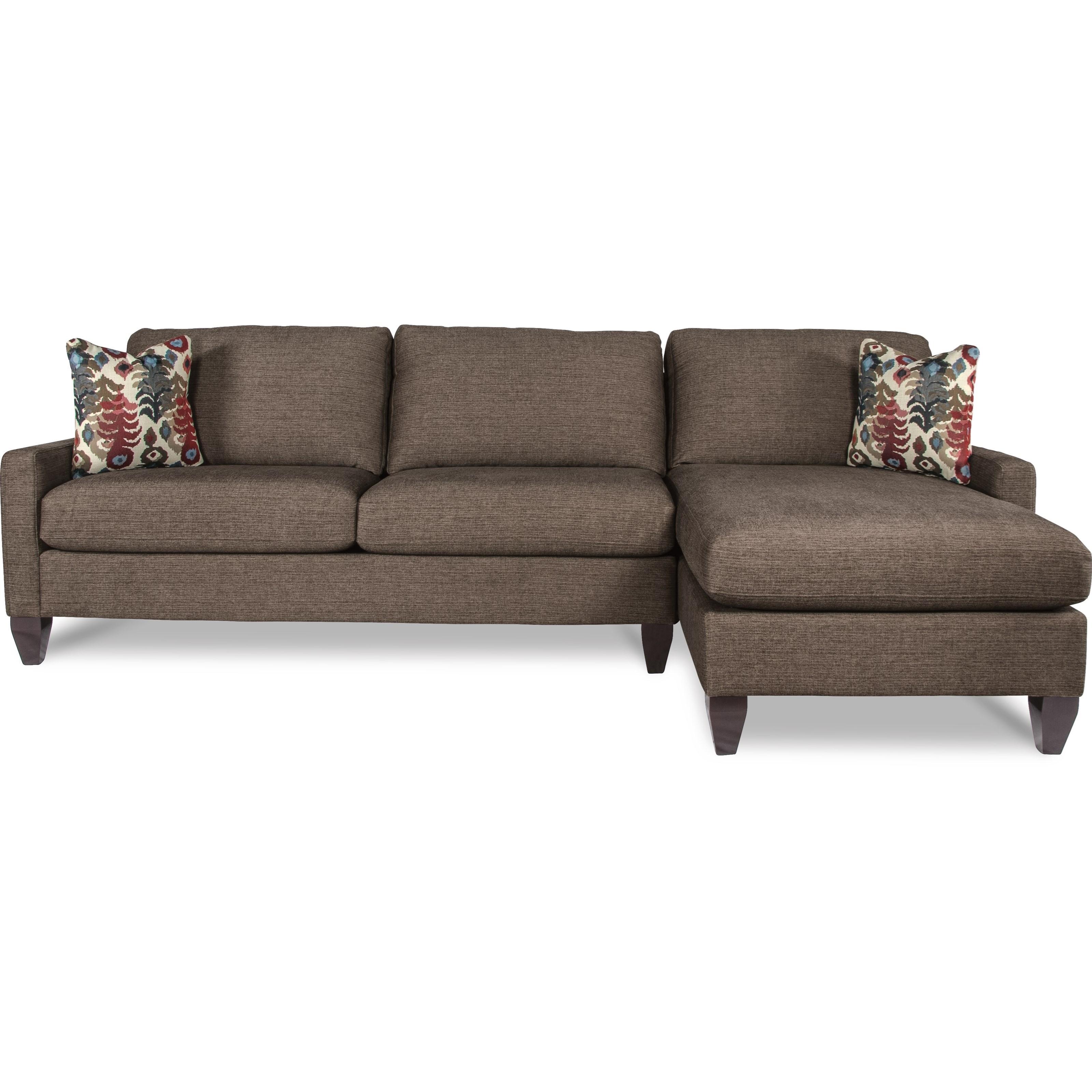 la z boy studio contemporary two piece sectional sofa w. Black Bedroom Furniture Sets. Home Design Ideas