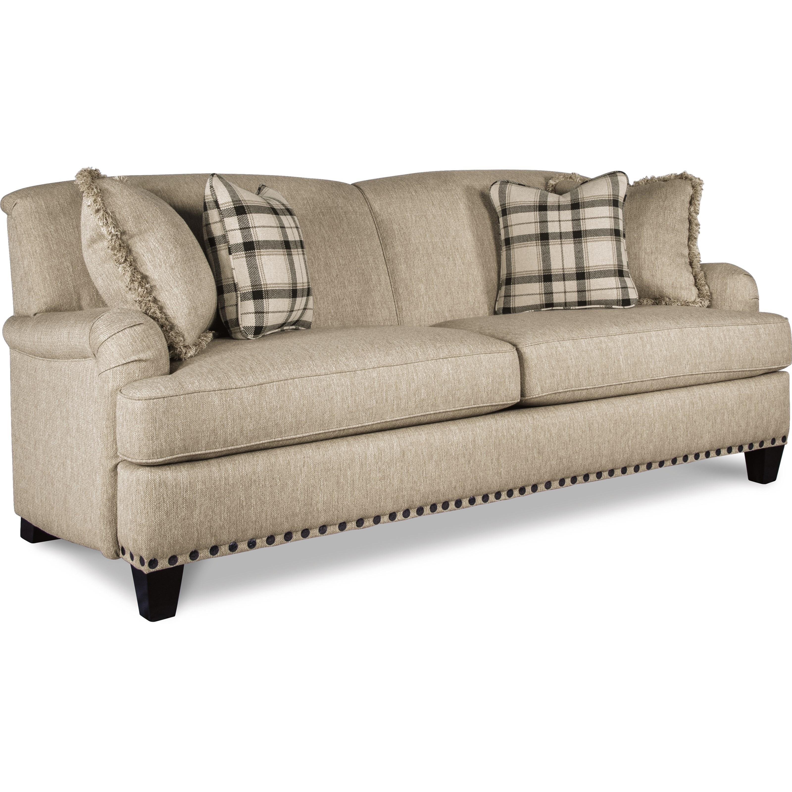 La z boy york traditional sofa with premier comfortcore cushions rotmans sofas - Sofa york ...