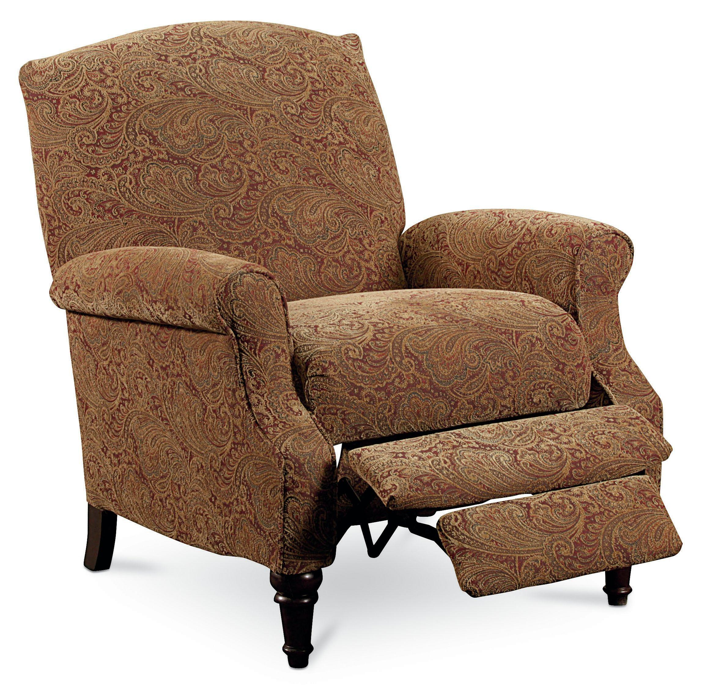 Lane hileg lane 2511 chloe hi leg recliner with rolled for Wing back recliner chair