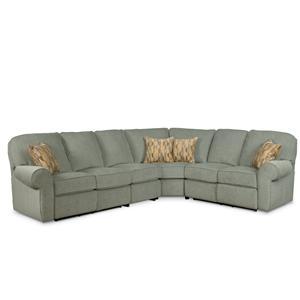 Lane megan 4 piece reclining sectional sofa ahfa for 4 piece recliner sectional sofa