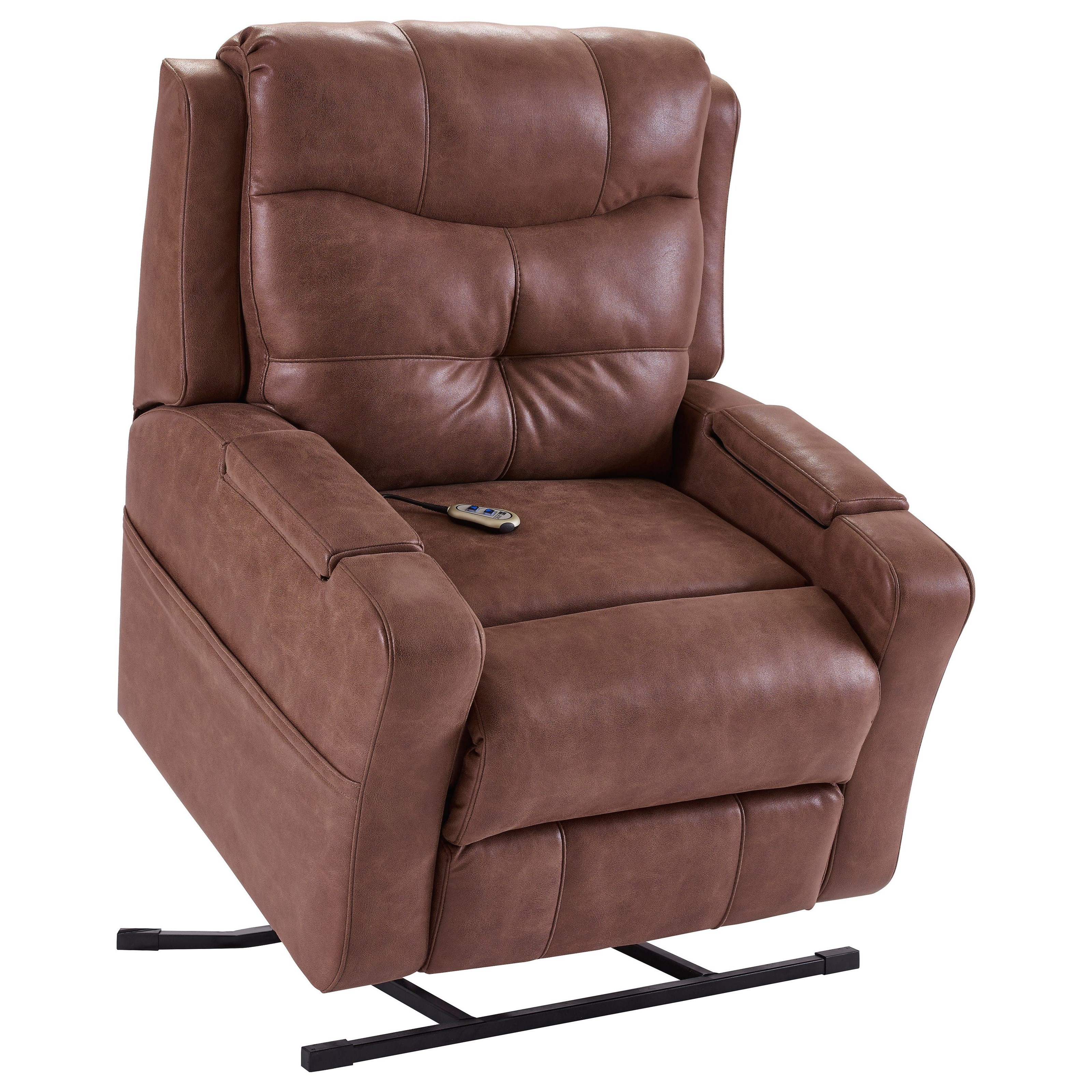 Lane miguel power lift recliner with heat and massage for Recliner lift chair