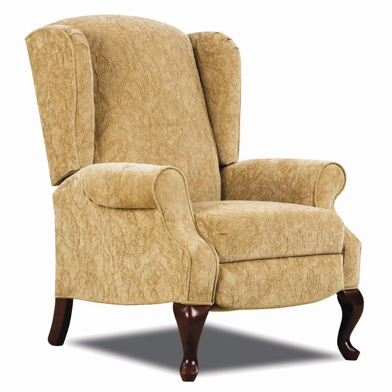 Lane Hi Leg Recliners Traditional Heathgate Hileg Recliner With Wing Back Sid