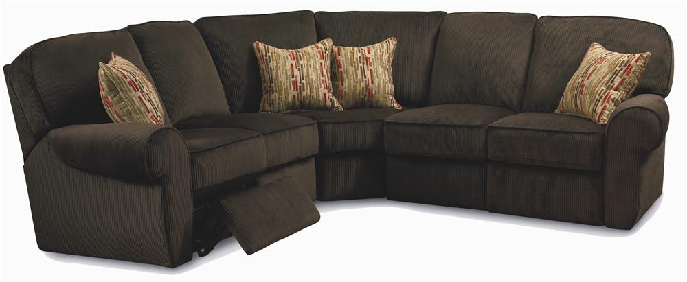 Lane megan 3 piece sectional sofa baer39s furniture for 3 piece small sectional sofa