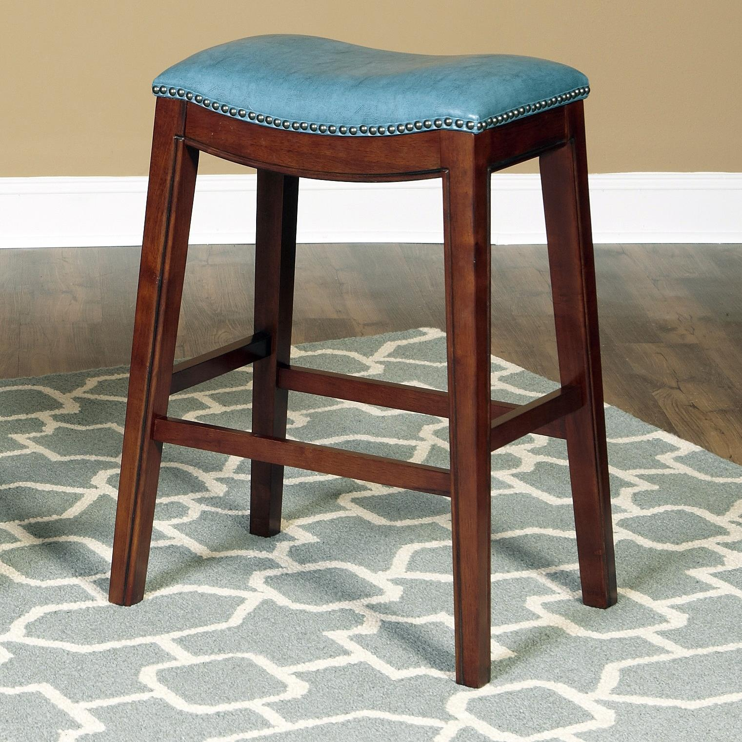 Largo fiesta 30 barstool with upholstered seat ivan for Ivan smith furniture