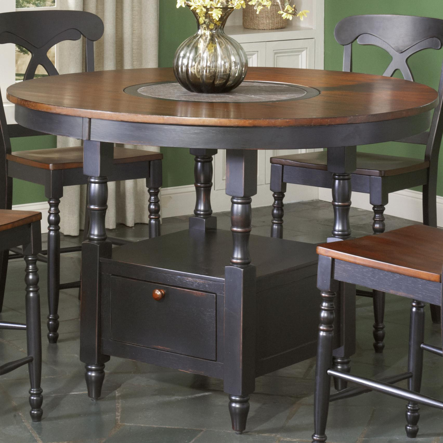 Largo Phillip Counter Height Table W Lazy Susan Olinde