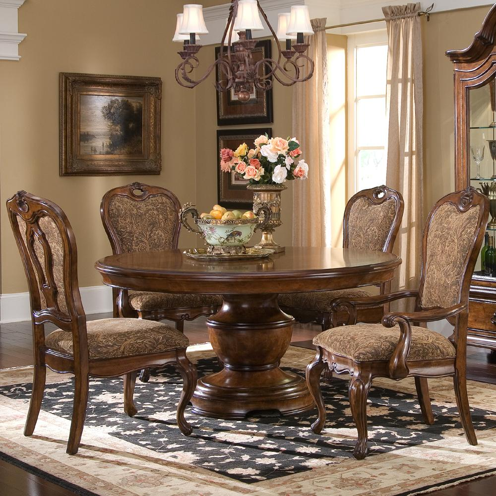 Largo Traviata 5 Piece Round Dining Table Set Olinde 39 S Furniture Dini