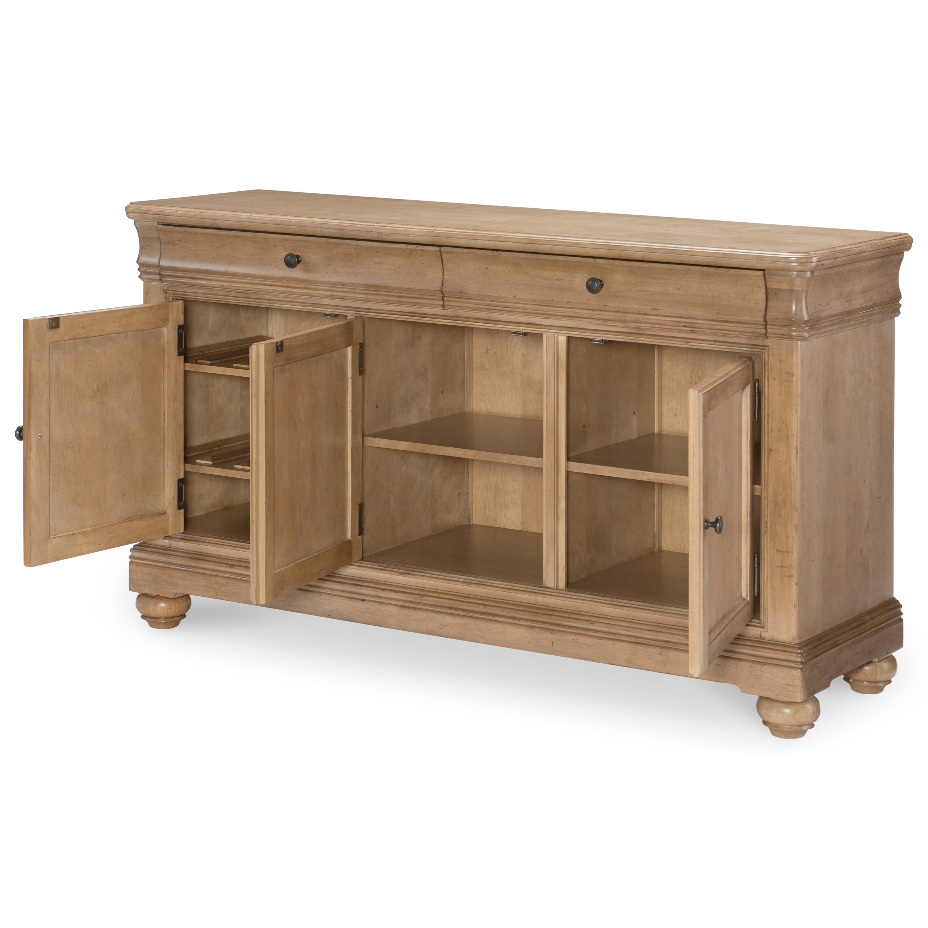 Legacy Classic Ashby Woods 3 Door Credenza With Adjustable