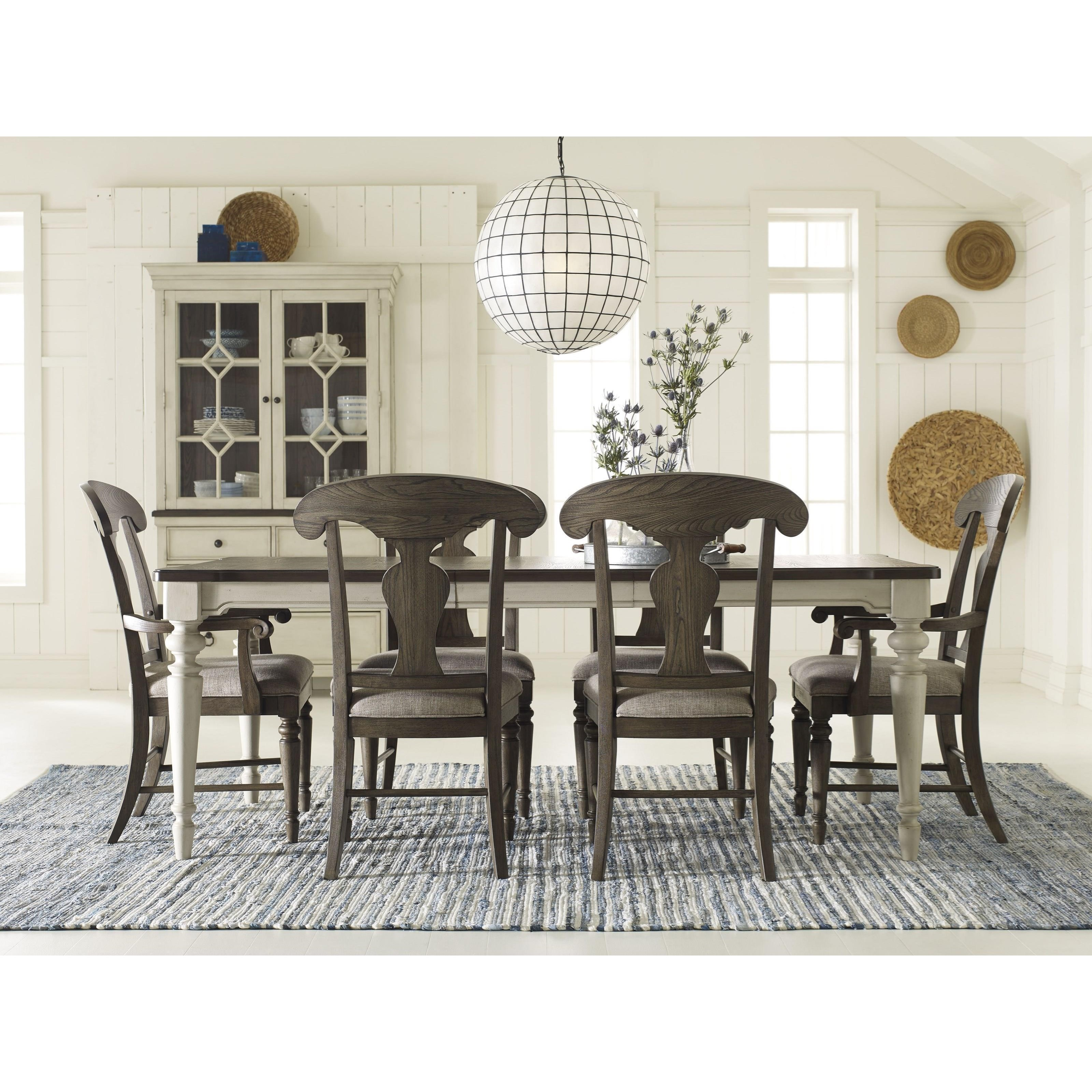 Legacy classic brookhaven splat back arm chair with for Legacy classic dining room furniture