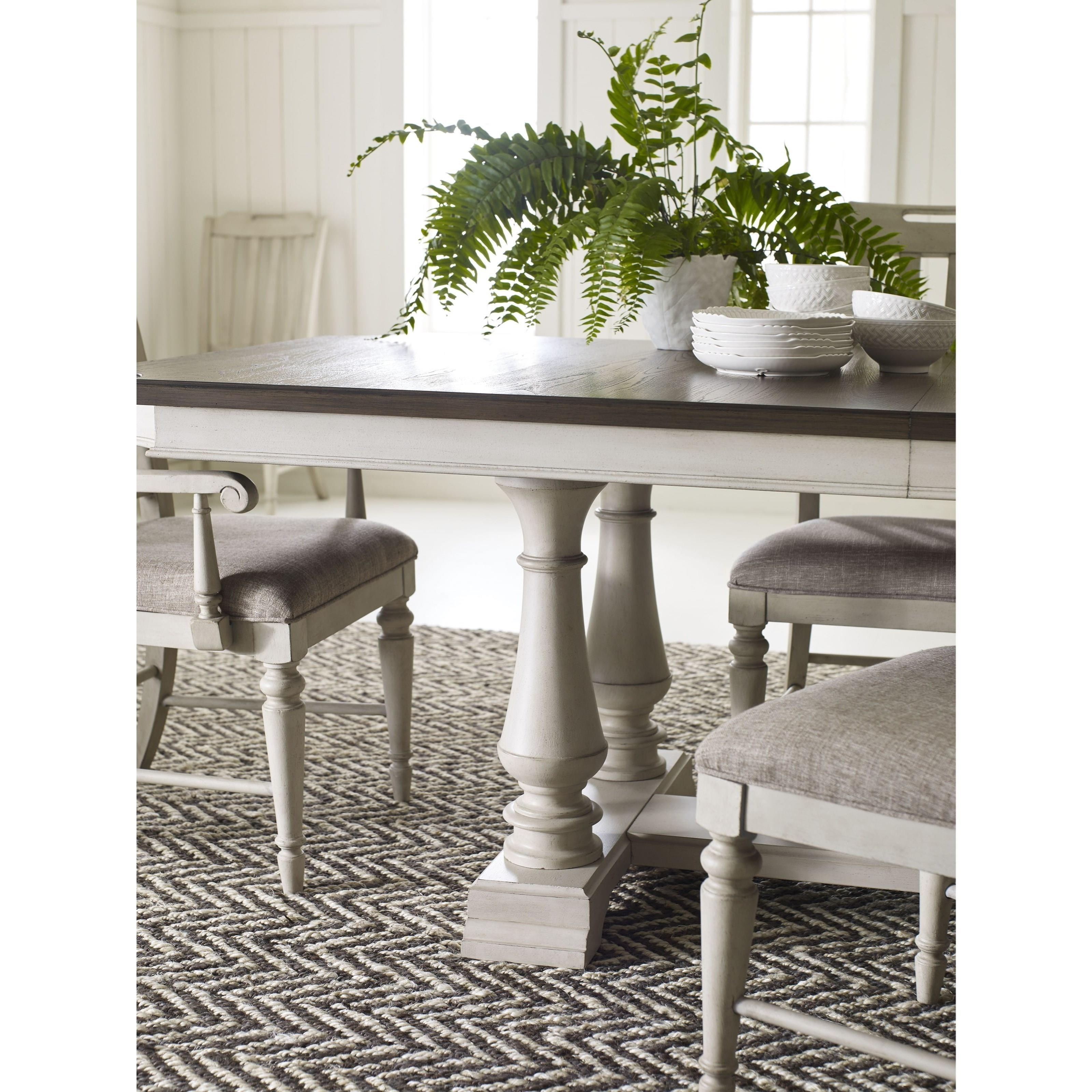 Legacy classic brookhaven trestle table with 2 leaves for Classic home furniture jacksonville fl