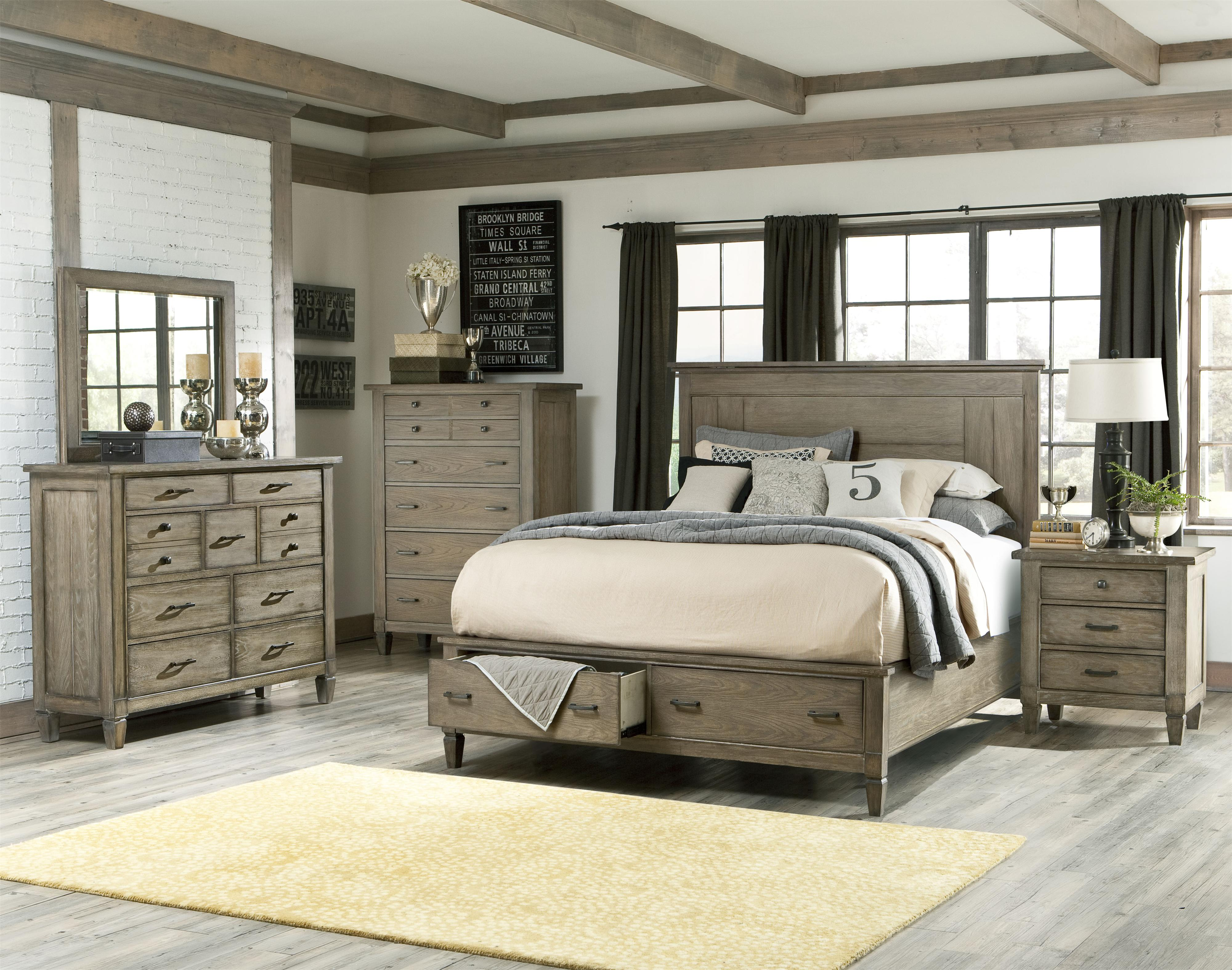 Brownstone Village California King Size Panel Bed With