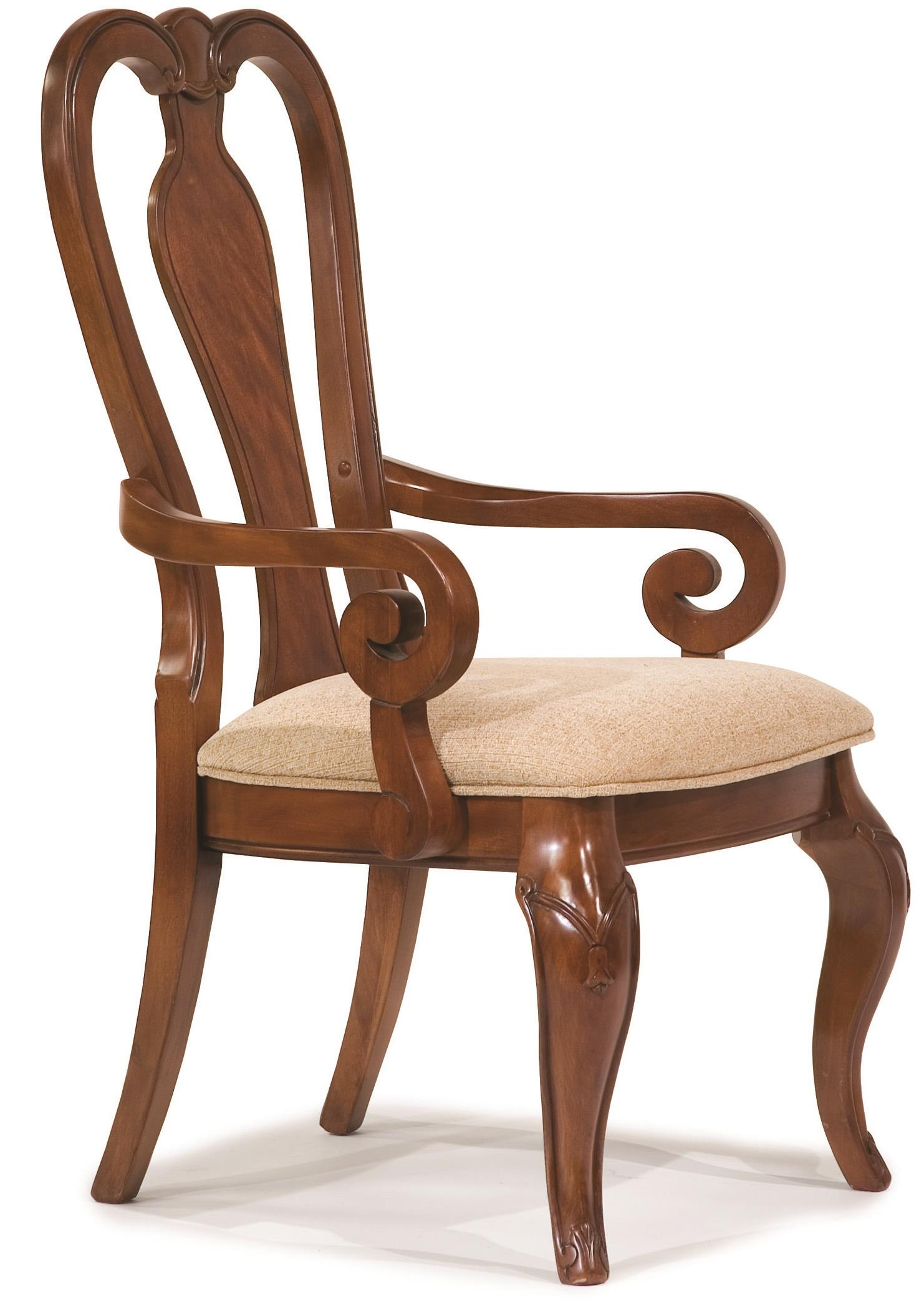 Legacy classic evolution 9180 141 kd queen anne arm chair for Legacy classic dining room furniture